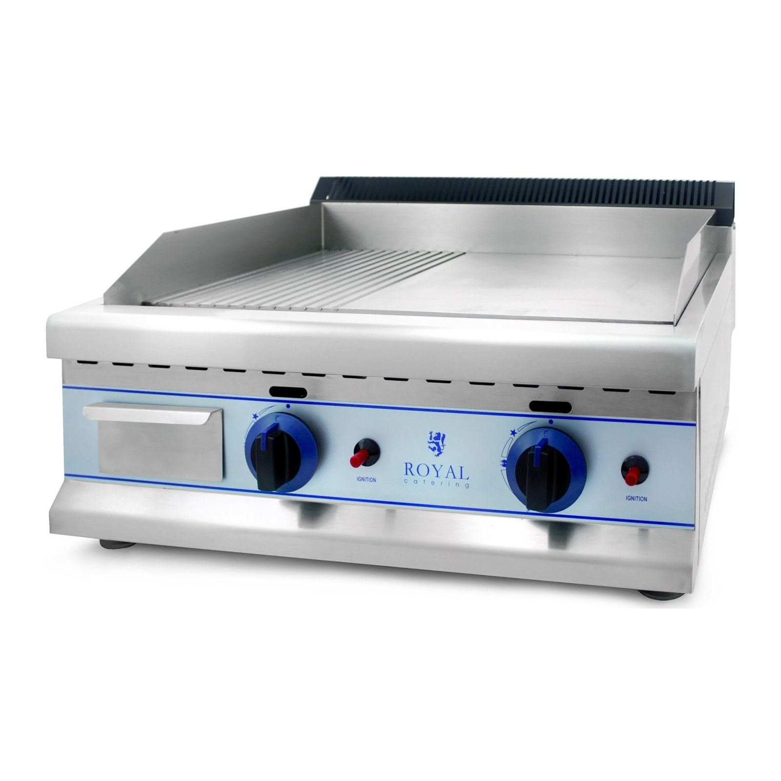 Royal Catering Gas-Doppelgrill - 65 cm - Erdgas - 20 mbar RCGL 65GE20H