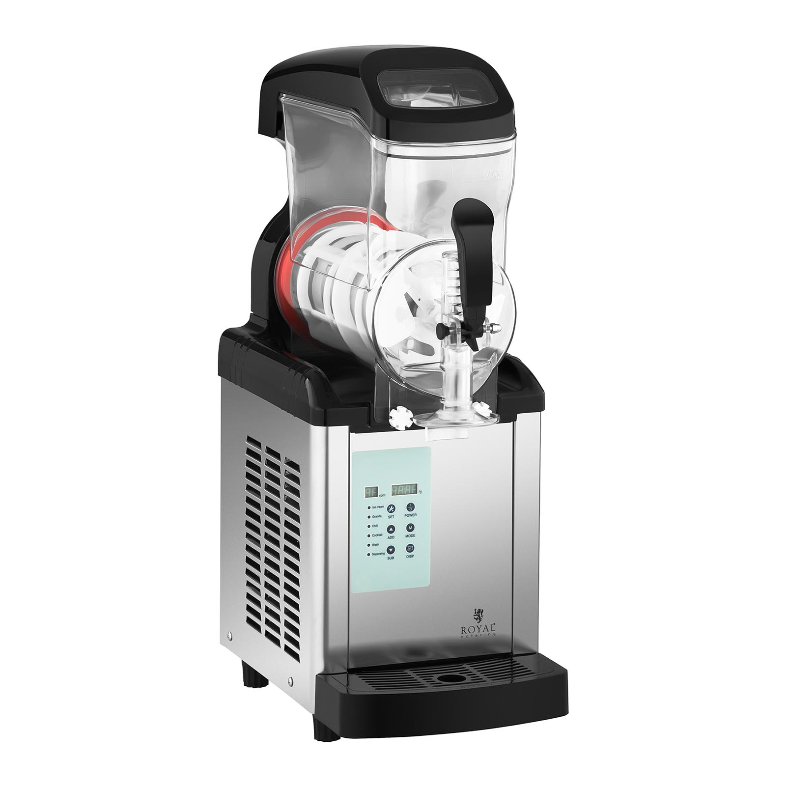 Royal Catering Slush-Maschine - 6 Liter - -20 °C Mindesttemperatur - Ice-Cream-Funktion RCSL 1/6ICE