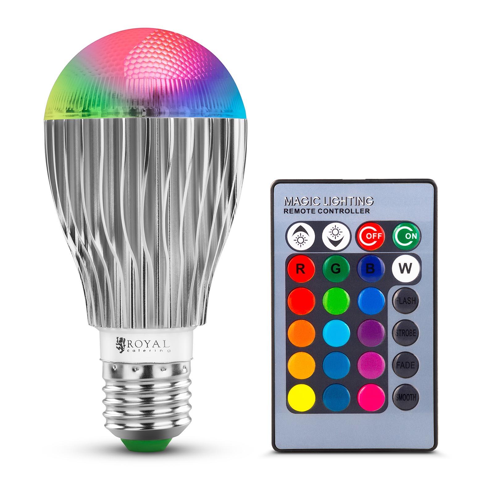 Royal Catering RGB-LED-Lampe mit Fernbedienung - 16 Farbeinstellungen - 5 W 10011129