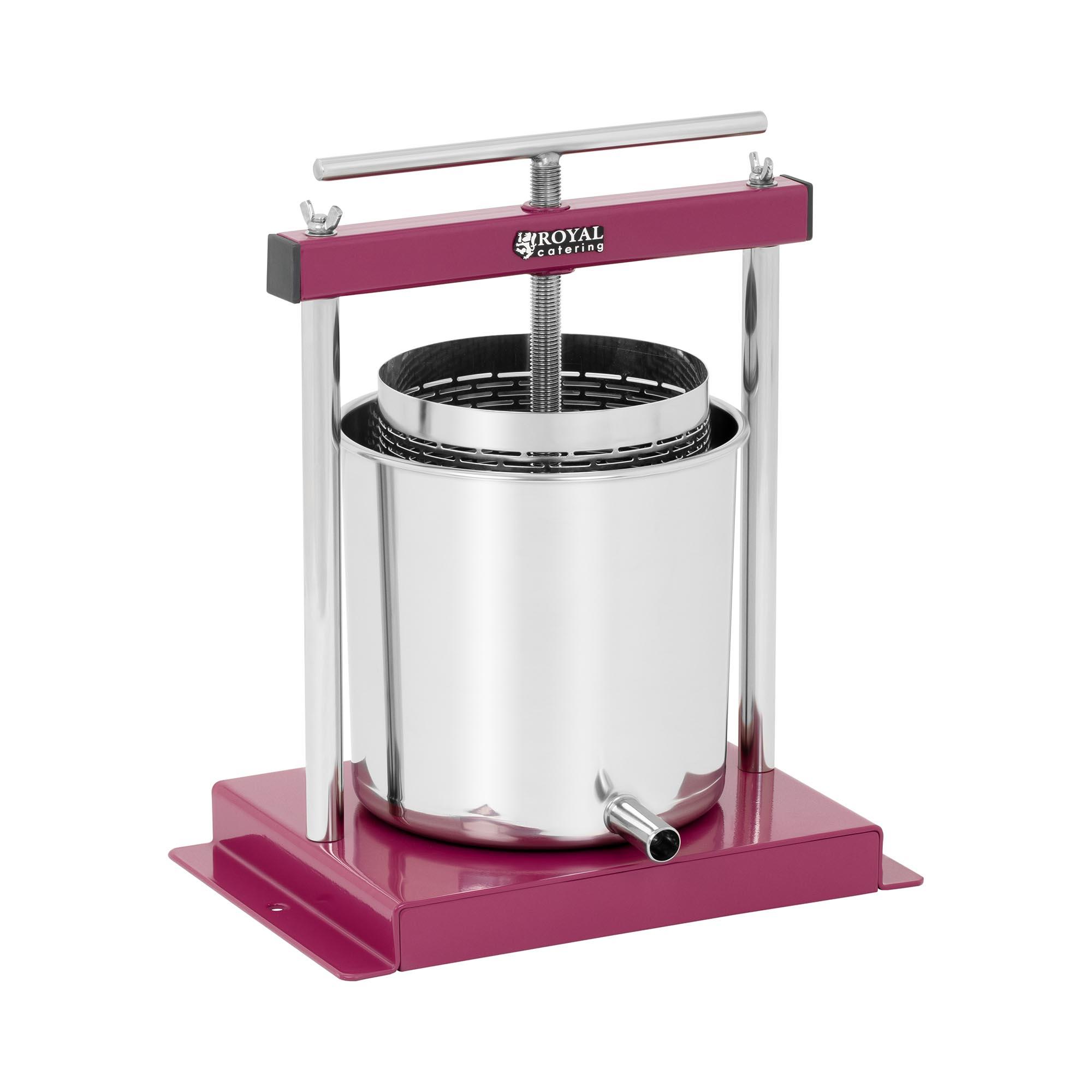 Royal Catering Fruktpresse - rustfritt stål - 4,5 liter - inkl. oppsamlingsbeholder 10011494