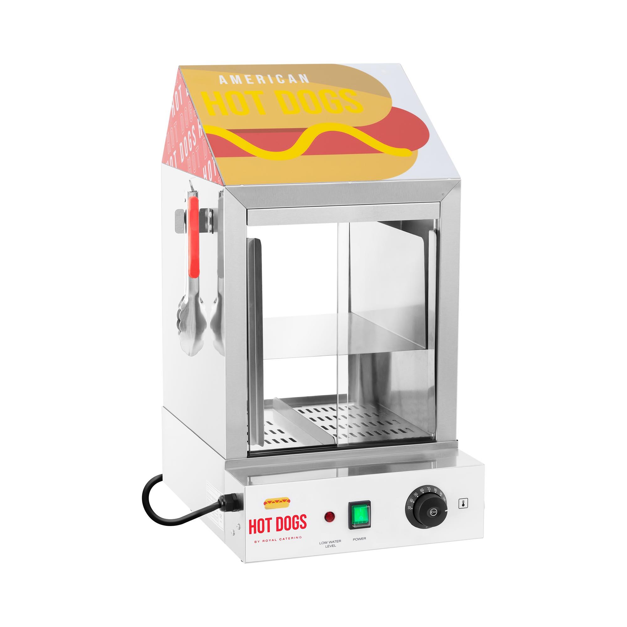 Royal Catering Hot Dog Steamer - 100 Würstchen - 25 Brötchen - 1.000 W RCHW 1000H