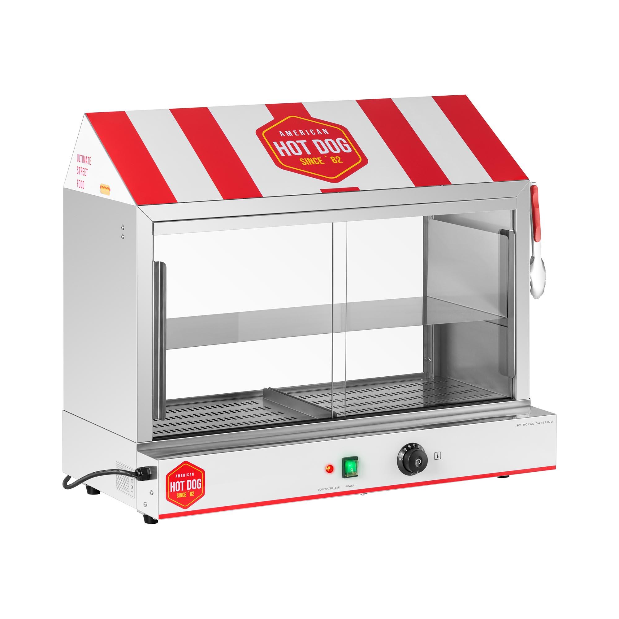 Royal Catering Hot Dog Steamer - 300 Würstchen - 100 Brötchen - 2.400 W RCHW 2500H