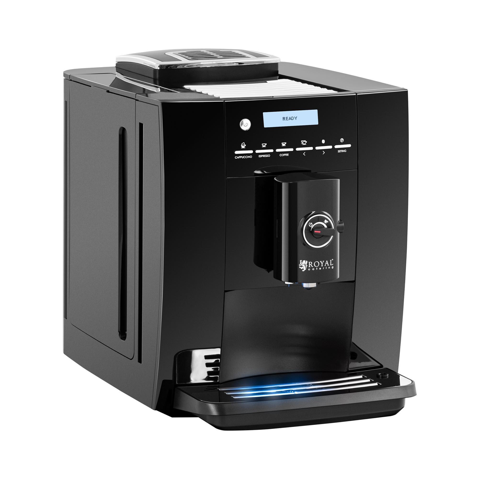 Royal Catering Kaffeevollautomat - bis 250 g Bohnen - Milchaufschäumer 10011830