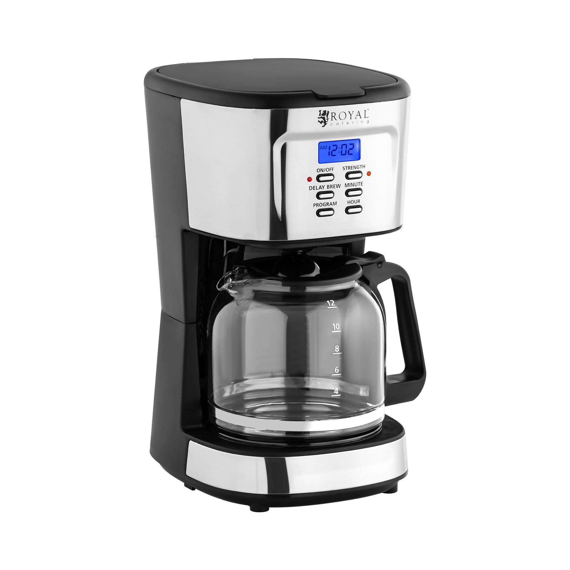 Royal Catering Kaffeemaschine - LCD - Permanentfilter - 1,5 L RC-FCM01