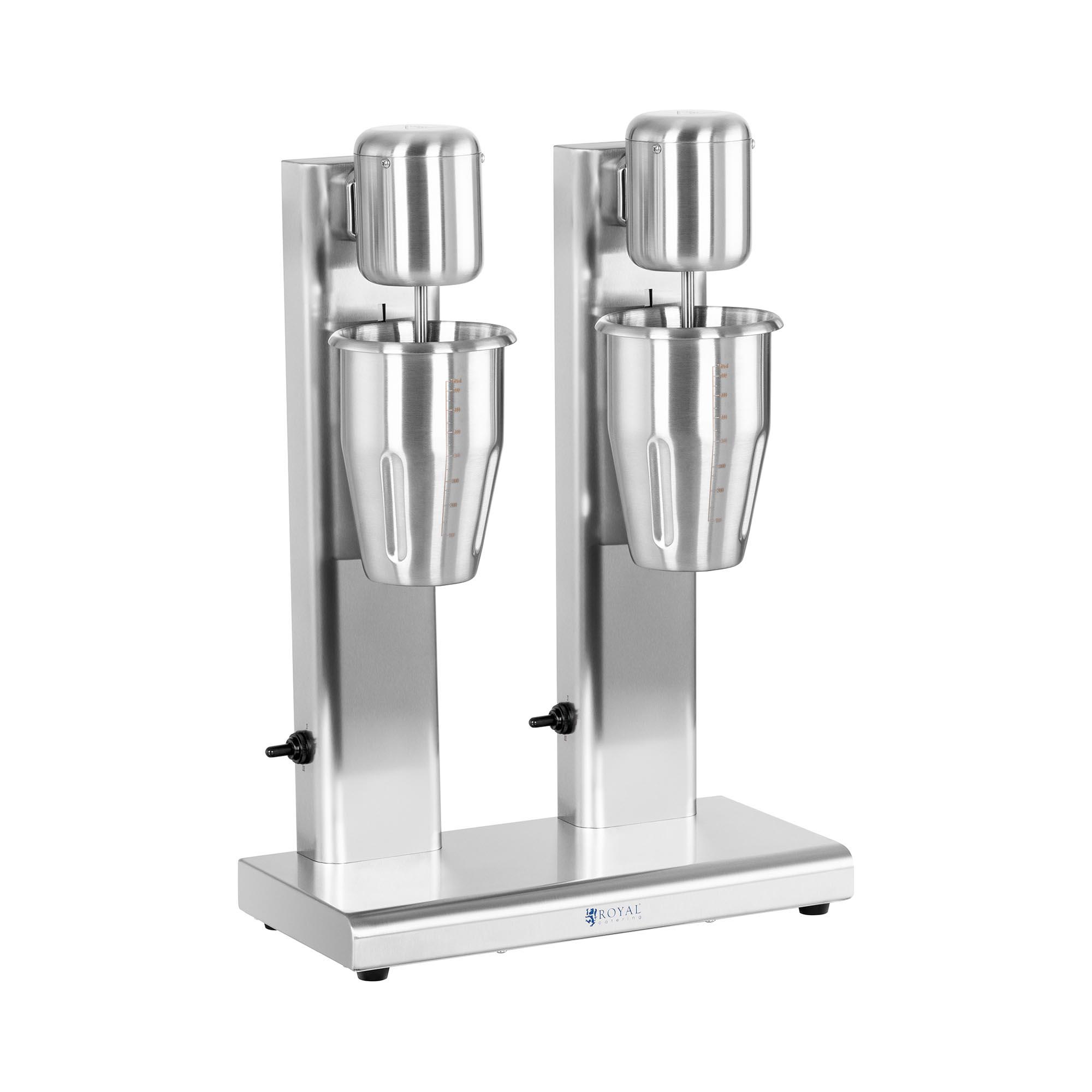 Royal Catering Milchshaker - doppelt - 2 x 1 L - 15.000 U/min - Edelstahl RCPMS-160S