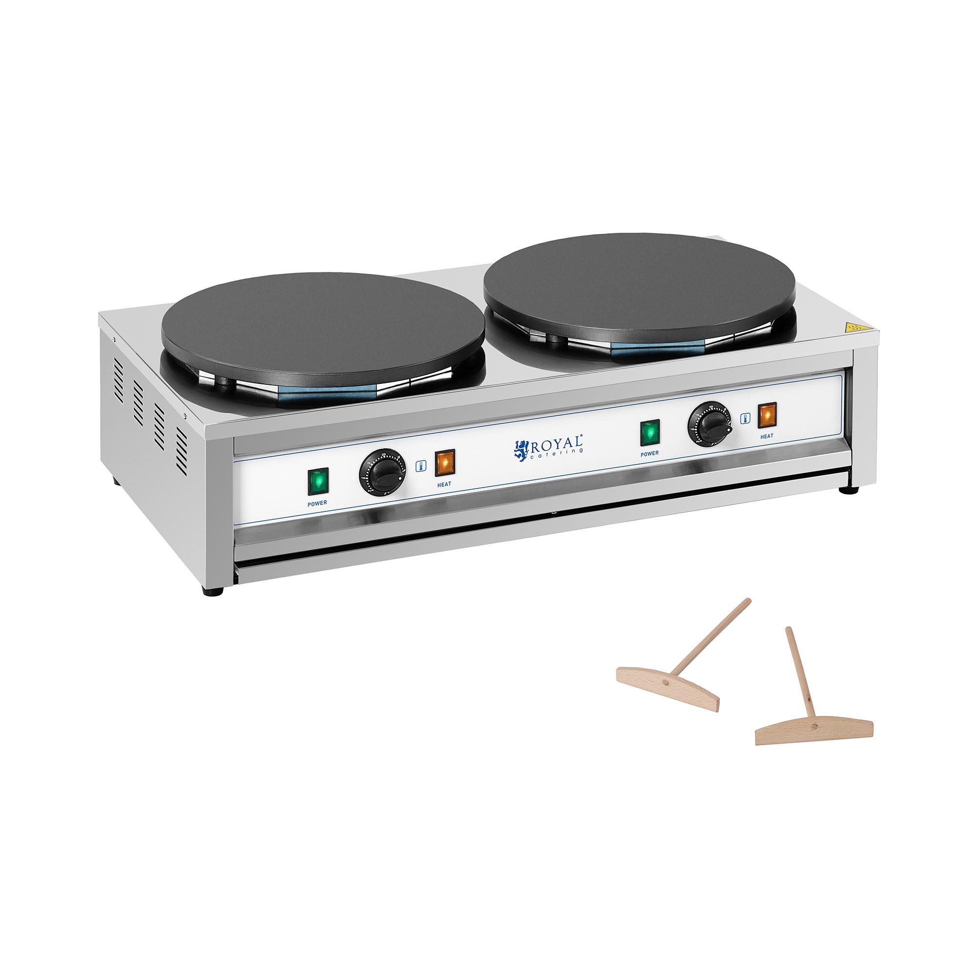 Royal Catering Crêpesmaker - 2 Heizplatten - 2 x 400 mm - 2 x 3.000 W RC-CMD01