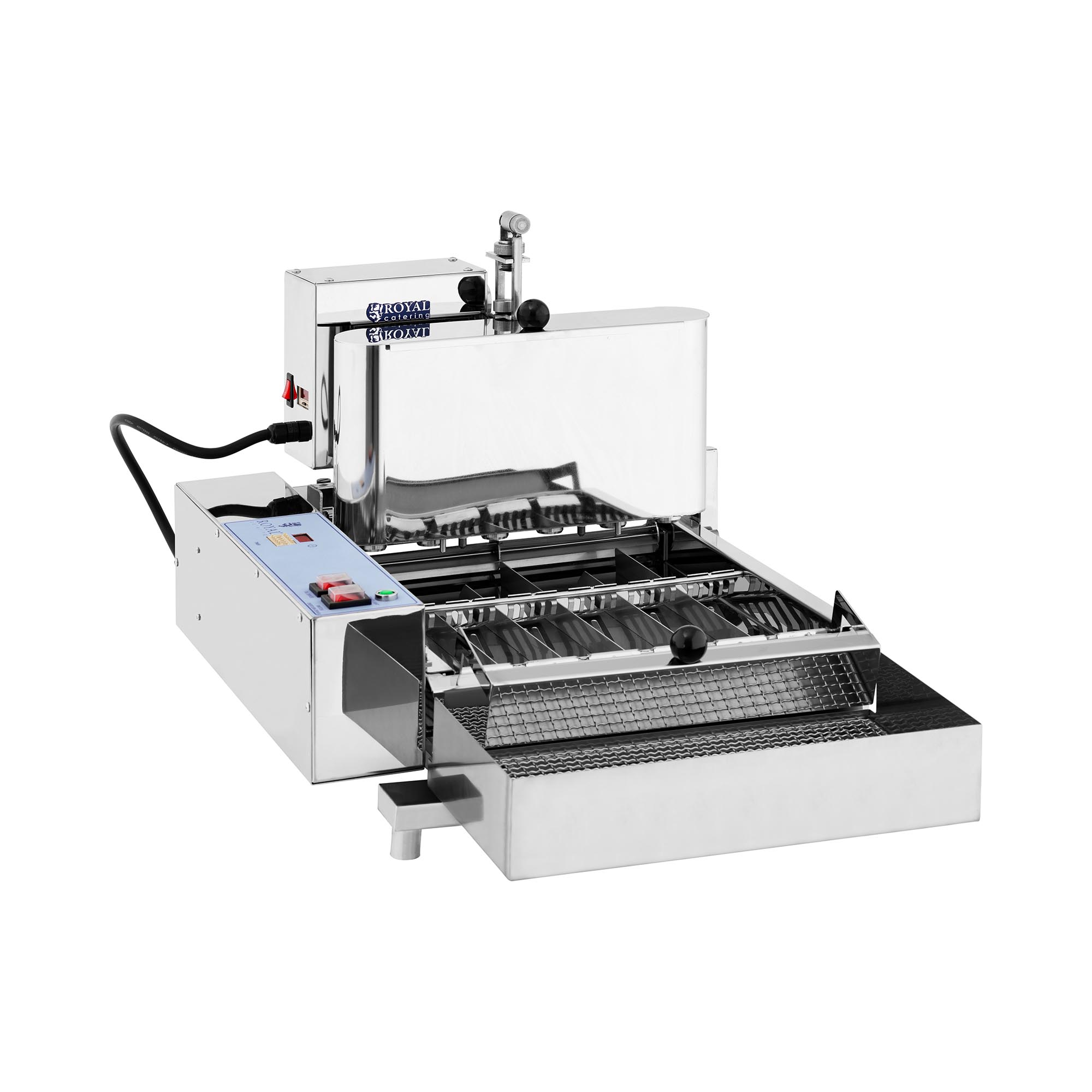 Donut-Maschine - 2.800 W - Royal Catering - 1440 Donuts/h RC-DM06