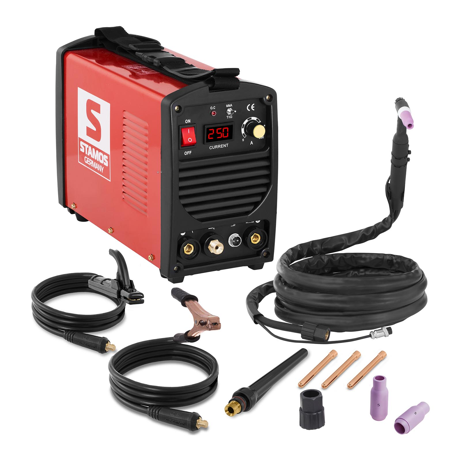 Stamos Basic WIG Schweißgerät - 250 A - 230 V - tragbar S-WIGMA 250