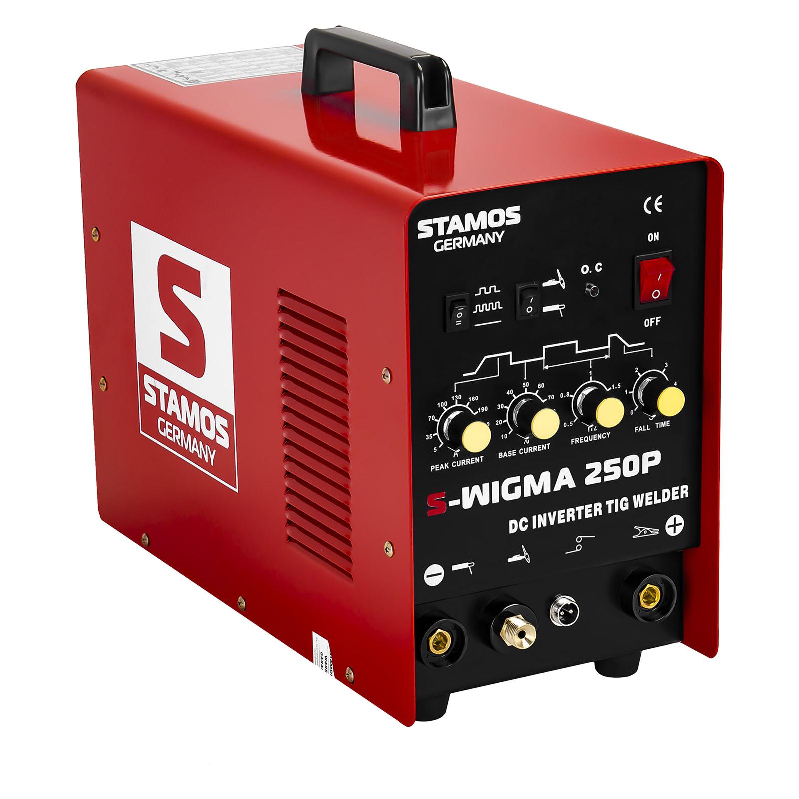 Stamos Basic WIG Schweißgerät - 250 A - 230 V - Puls 10020011