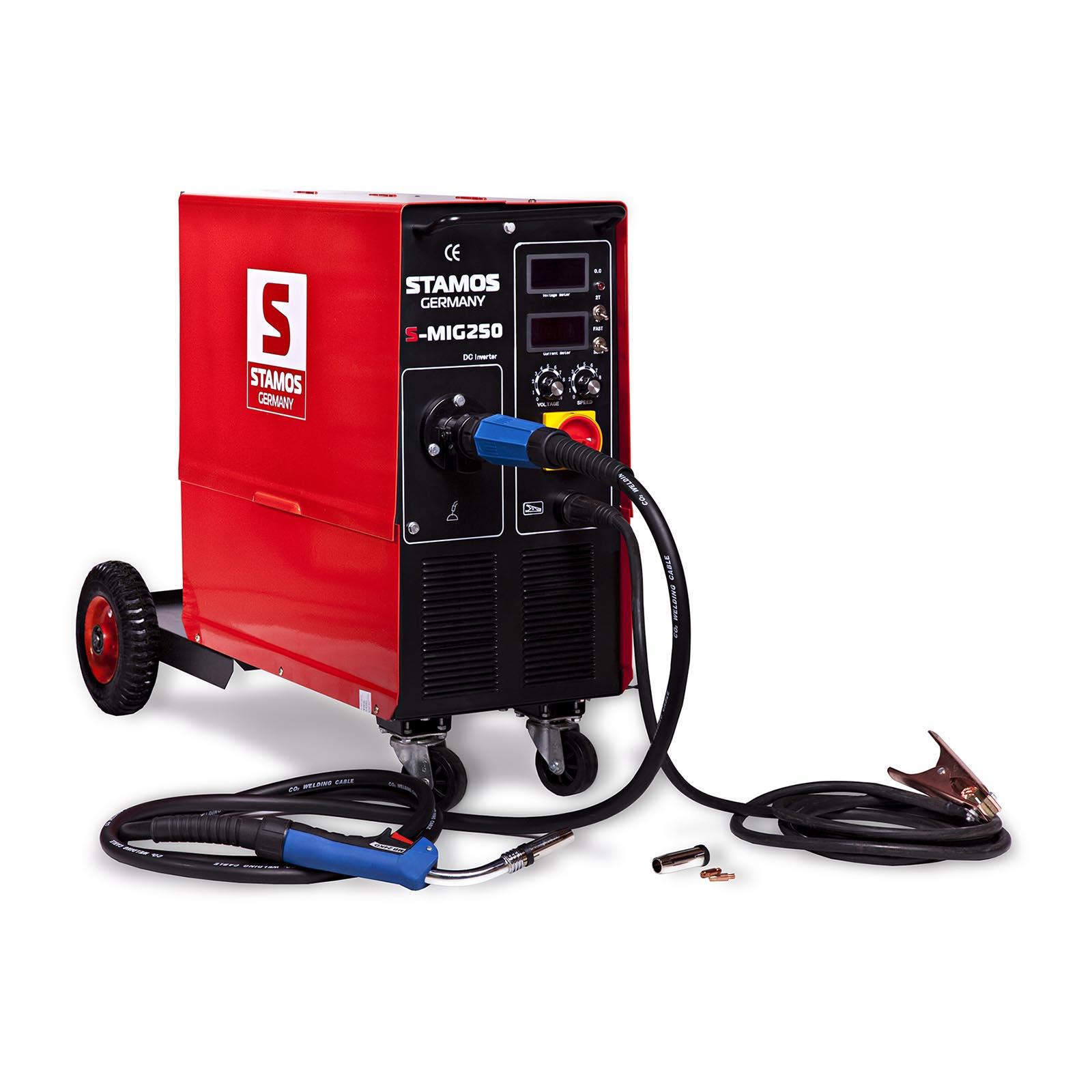 Stamos Basic MIG-/MAG-Schweißgerät - 250 A - 400 V - ED 60 % - mit Wagen 10020021
