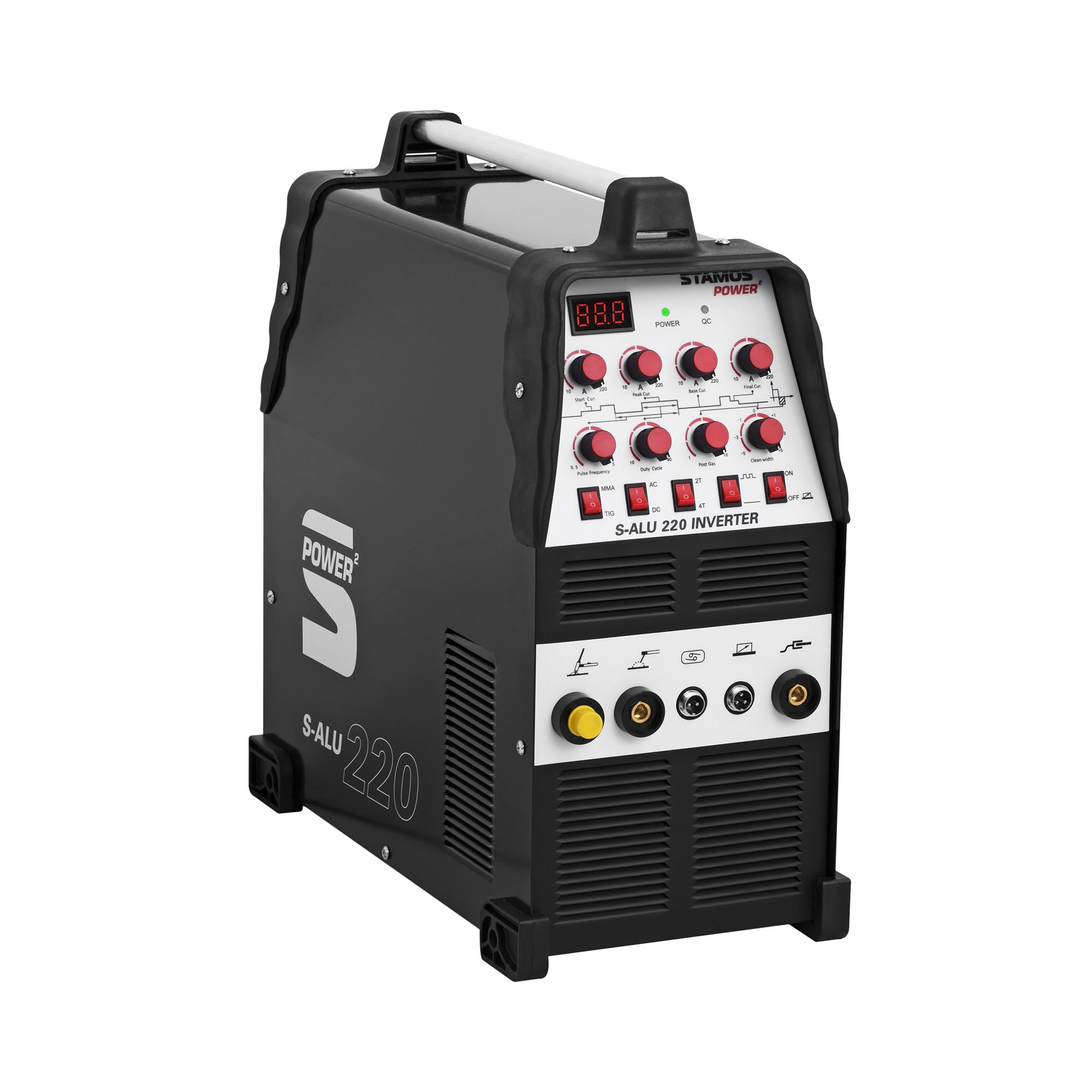 Stamos Power ² ALU Schweißgerät - WIG AC/DC - 220 A - 230 V - Puls - 2/4 Takt 10020125
