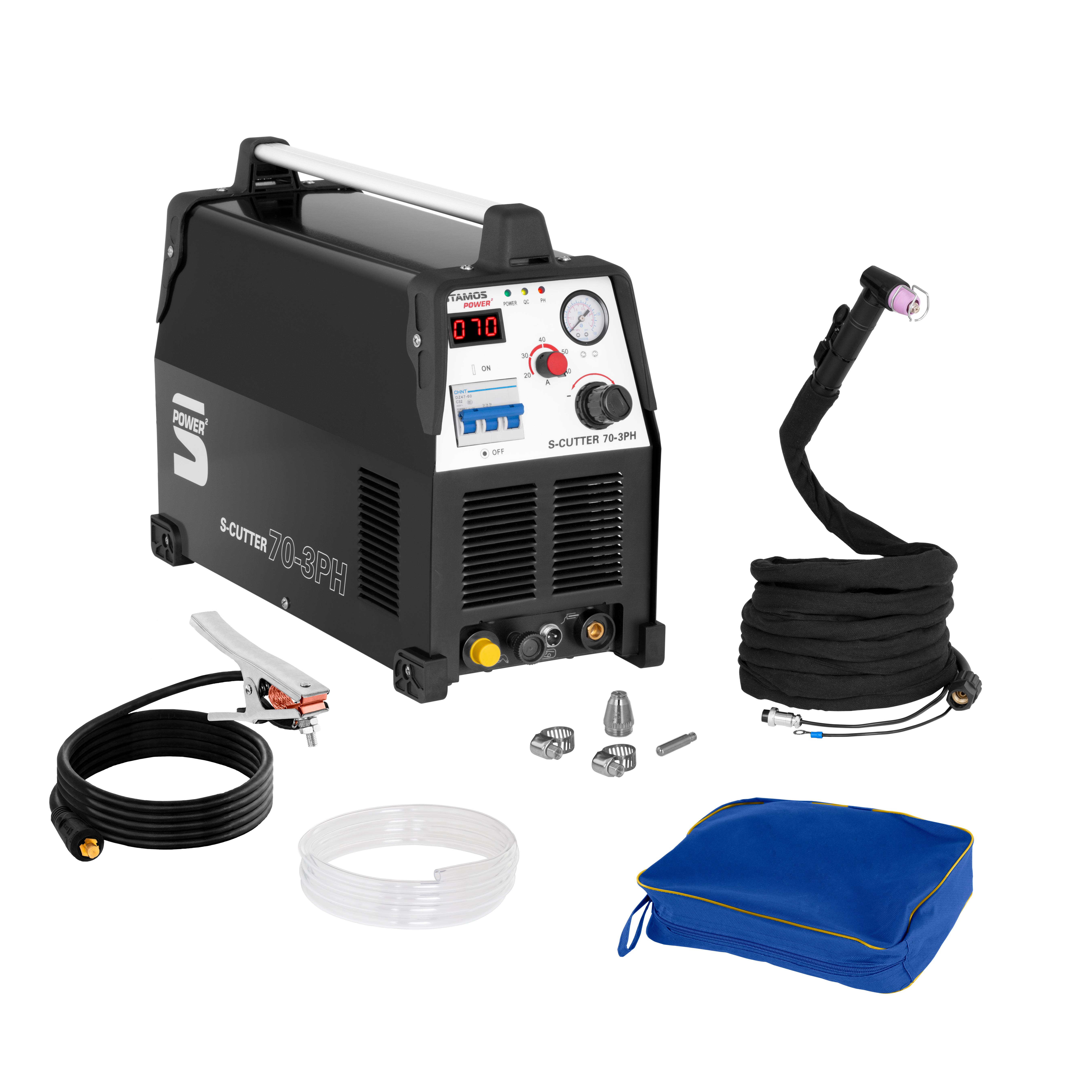 Stamos Power ² Plasmaschneider - 70 A - 400 V - Pilotzündung S-CUTTER 70-3PH/PRZECINARKA CUT 70