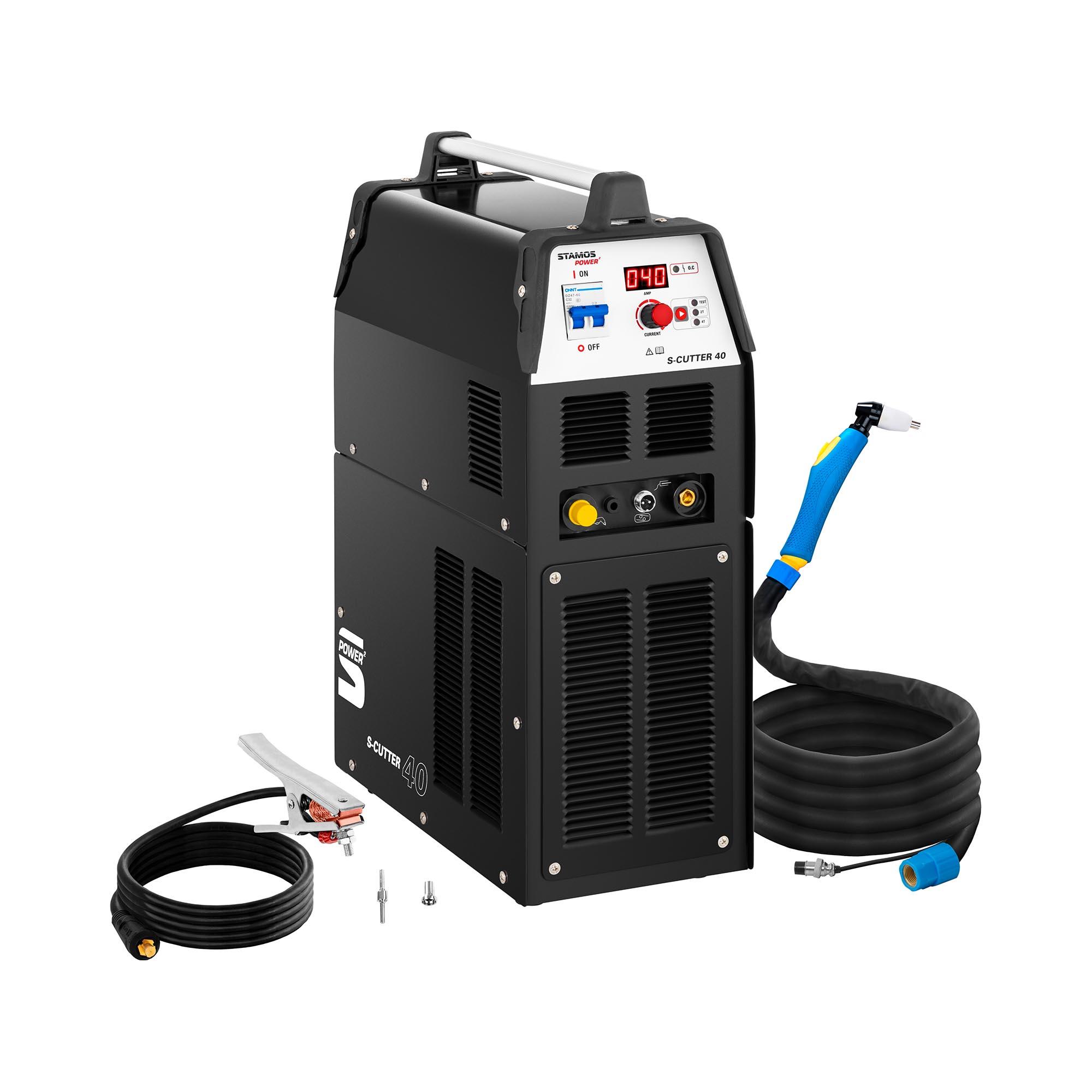 Stamos Power ² Plasmaschneider mit Kompressor- 40 A - ED 60 % - digital - 230 V 10020150