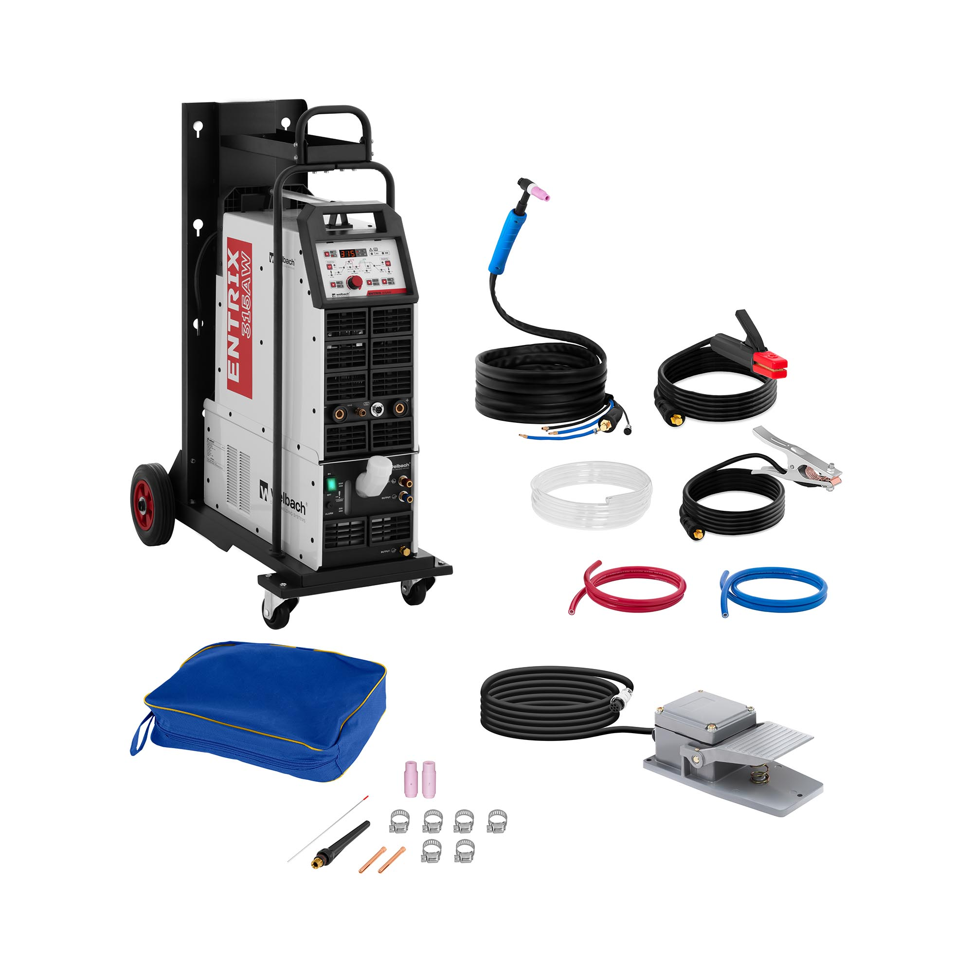 welbach ALU-Schweißgerät - 315 A - 400 V - Digital - Puls - Wasserkühlung 10020167