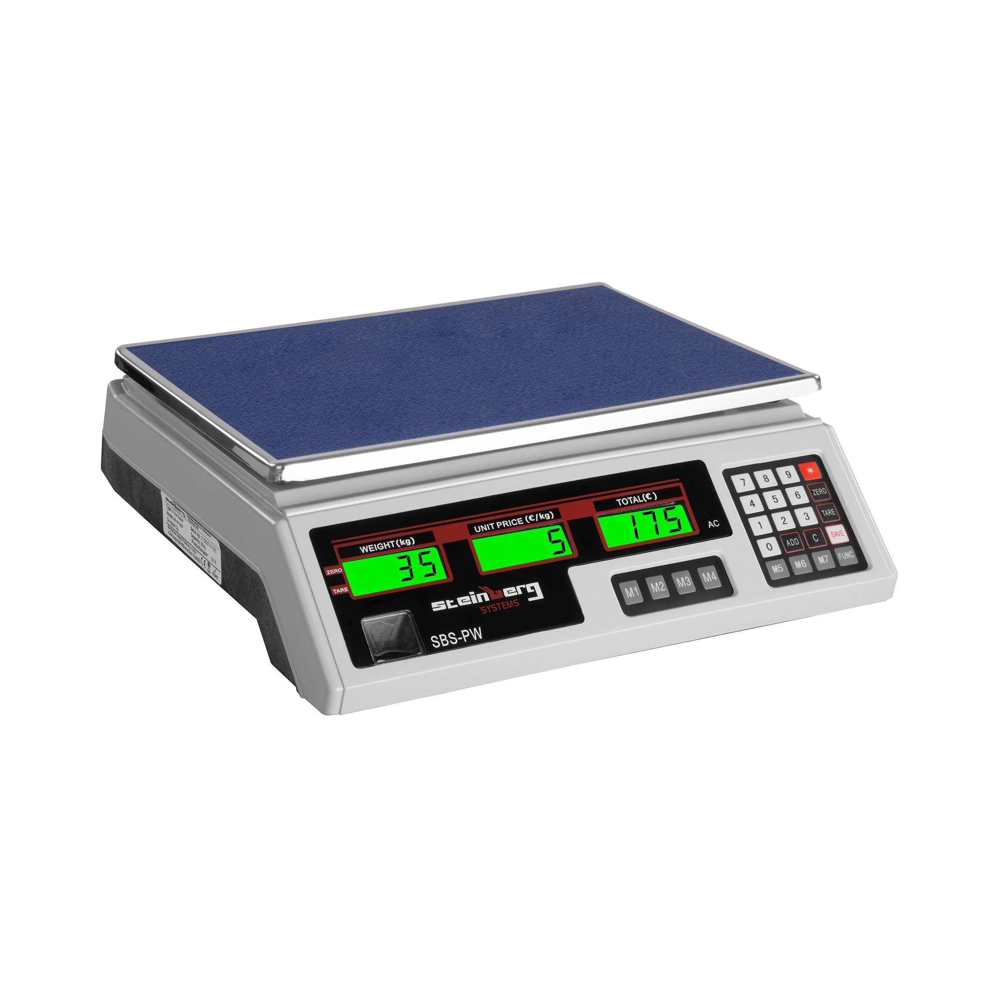 Steinberg Systems Kontrollwaage - 35 kg / 2 g - weiß - LCD SBS-PW-352W