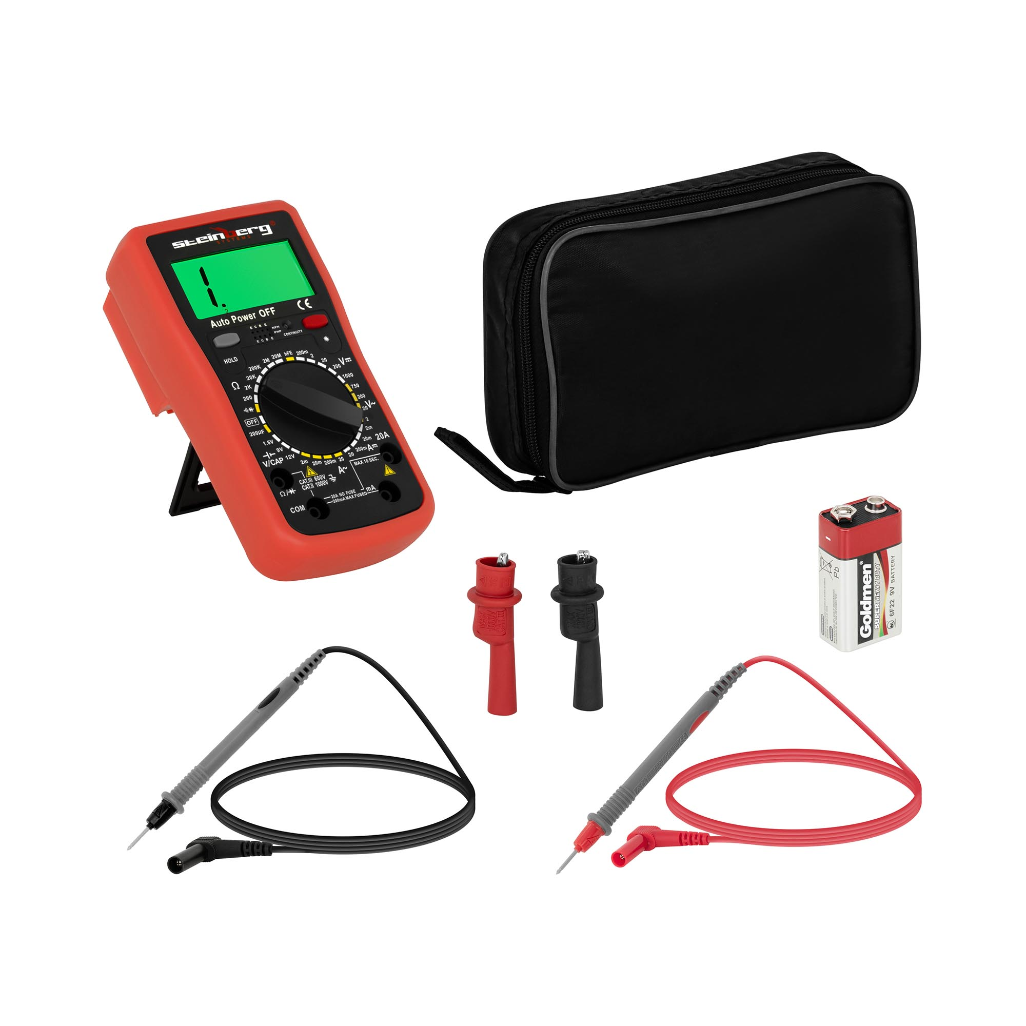 Steinberg Systems Multimeter - 2.000 Counts - hFE-Transistortest 10030396