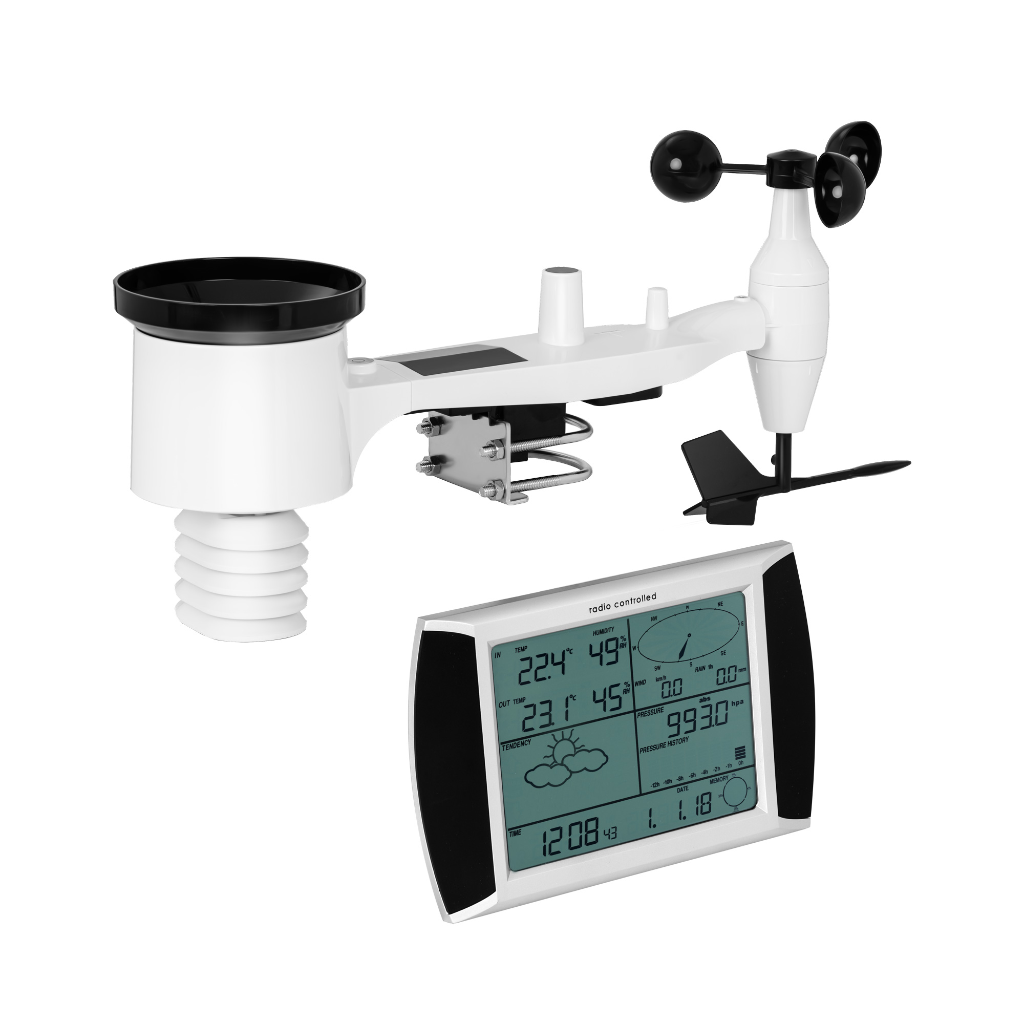 Steinberg Systems Wetterstation - Touchdisplay - USB 10030452