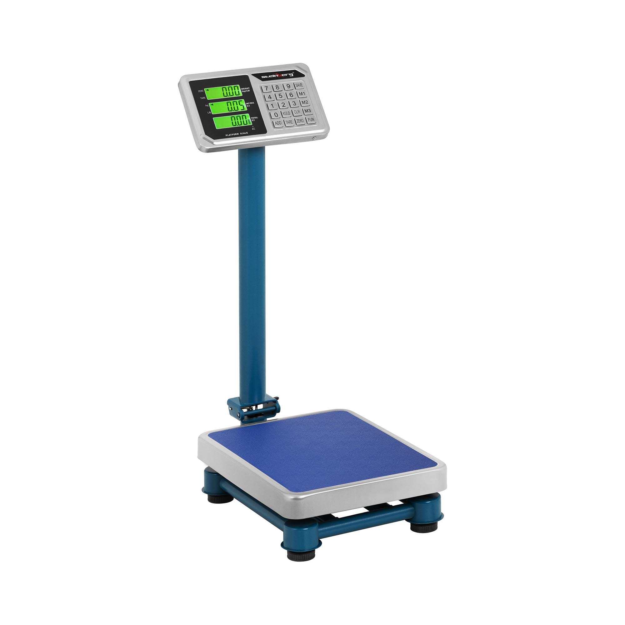 Steinberg Systems Plattformwaage - 100 kg / 20 g - 40 x 30 cm - LCD - Edelstahl SBS-PF-100/20C