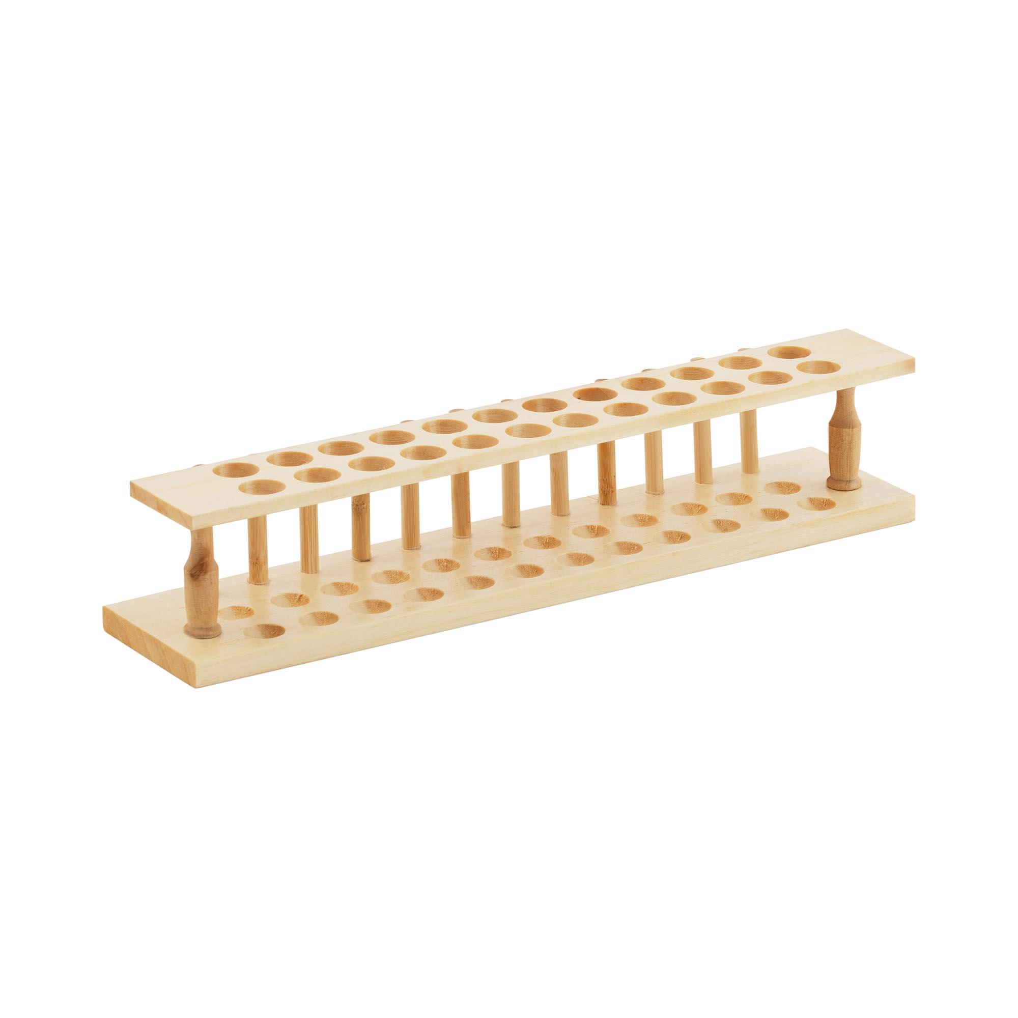 Steinberg Systems Reagenzglasständer - Holz - für 24 Reagenzgläser 10030608