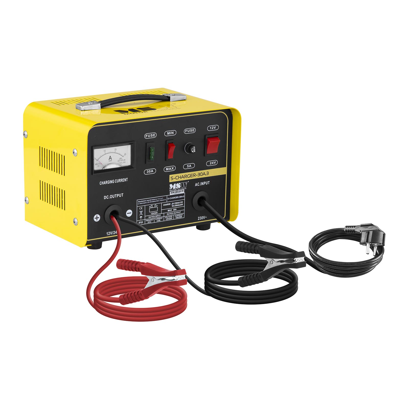 MSW Autobatterie-Ladegerät - 12/24 V - 15/20 A S-CHARGER-30A.3