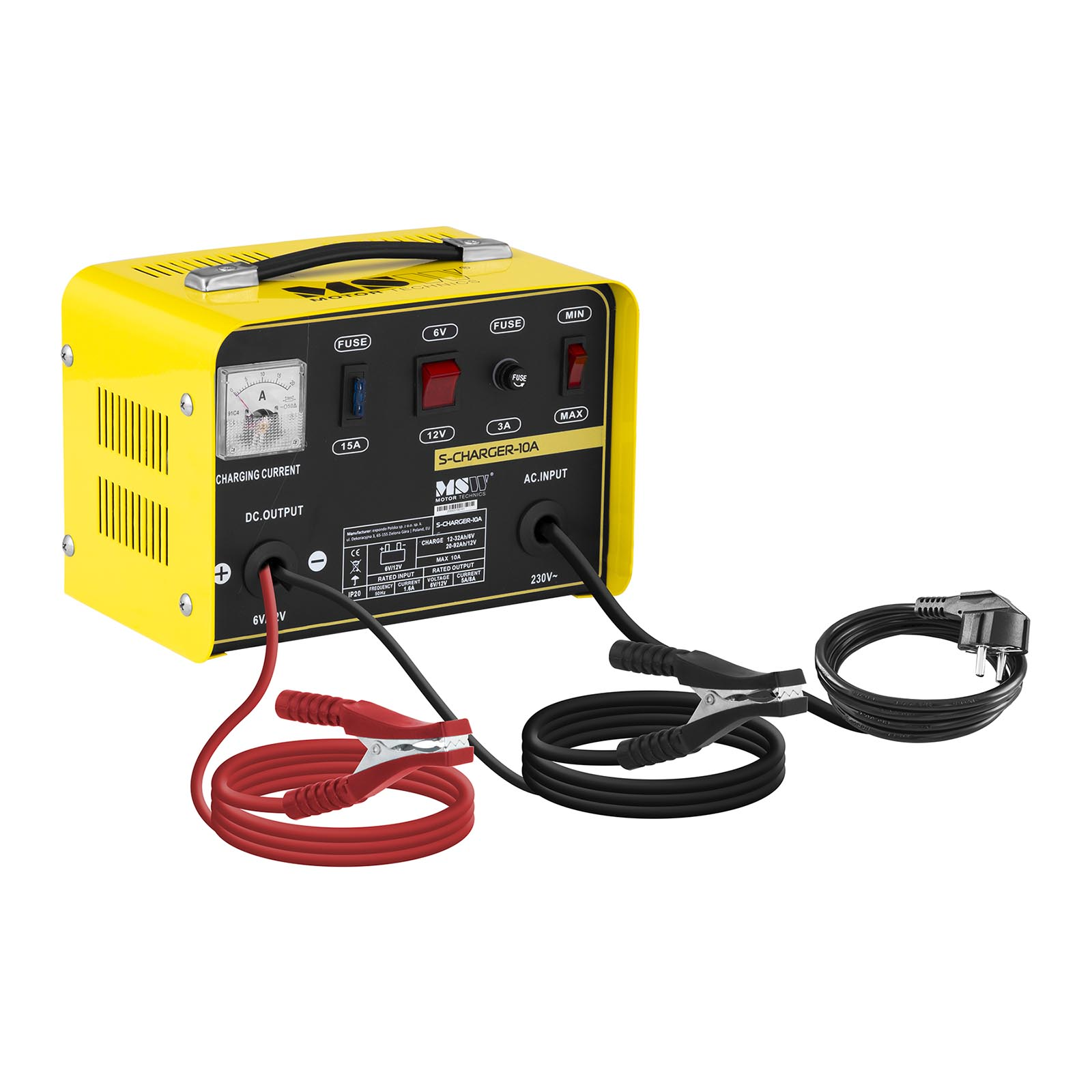 MSW Autobatterie-Ladegerät - 6/12 V - 5/8 A S-CHARGER-10A