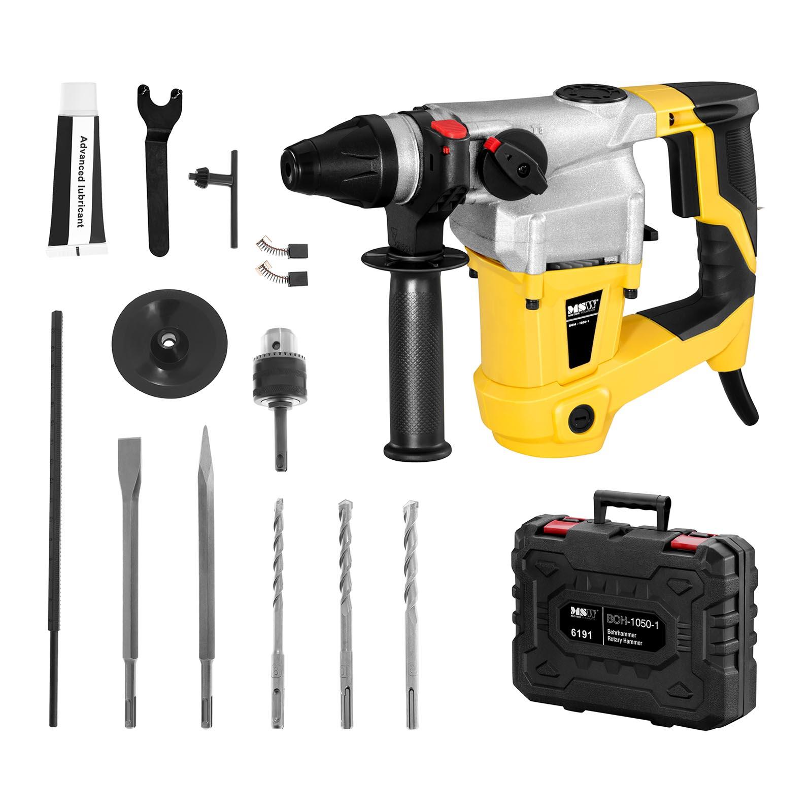 MSW Bohrhammer - 1.050 W - 1.050 U/min - 5.200 S/min BOH-1050-1