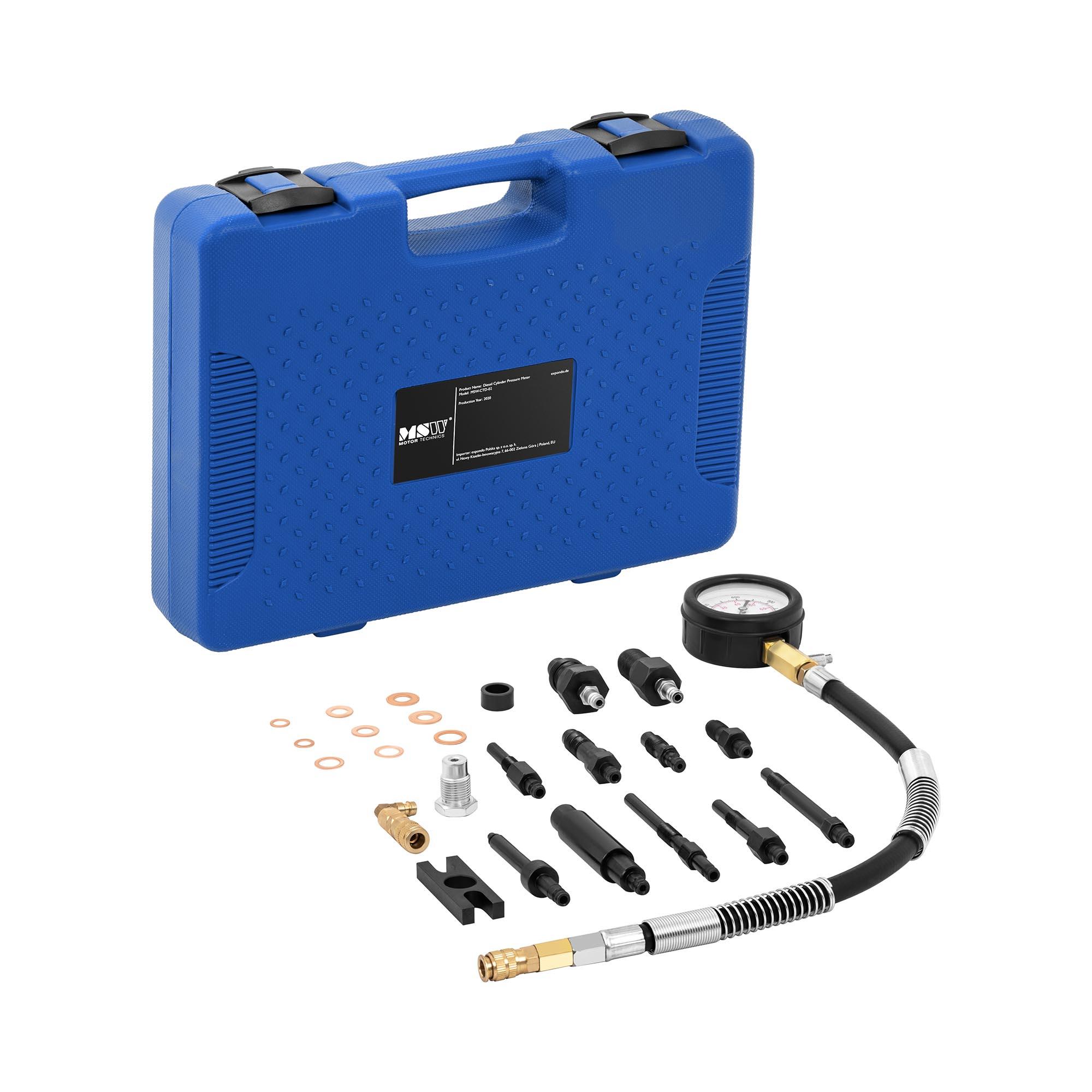 MSW Kompressionstester Diesel - 0-70 bar - 70 mm Manometer - 42 cm Schlauch MSW-CTD-02