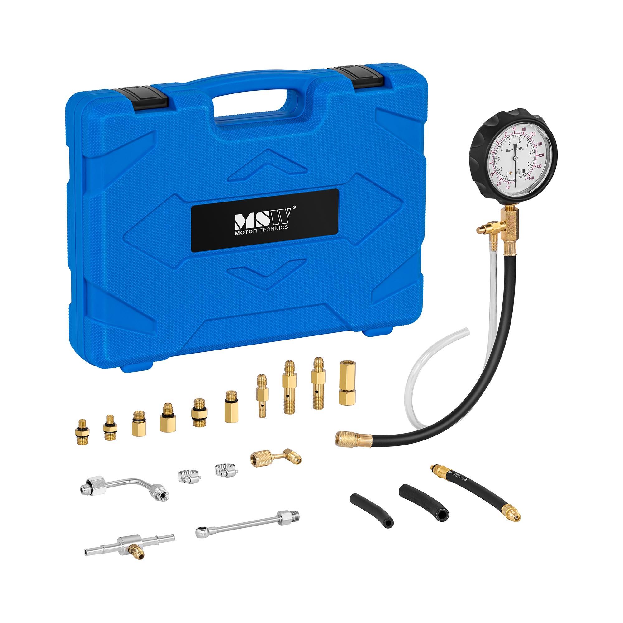 MSW Benzindruckprüfer - bis 9,6 bar - 20 Teile 10061237