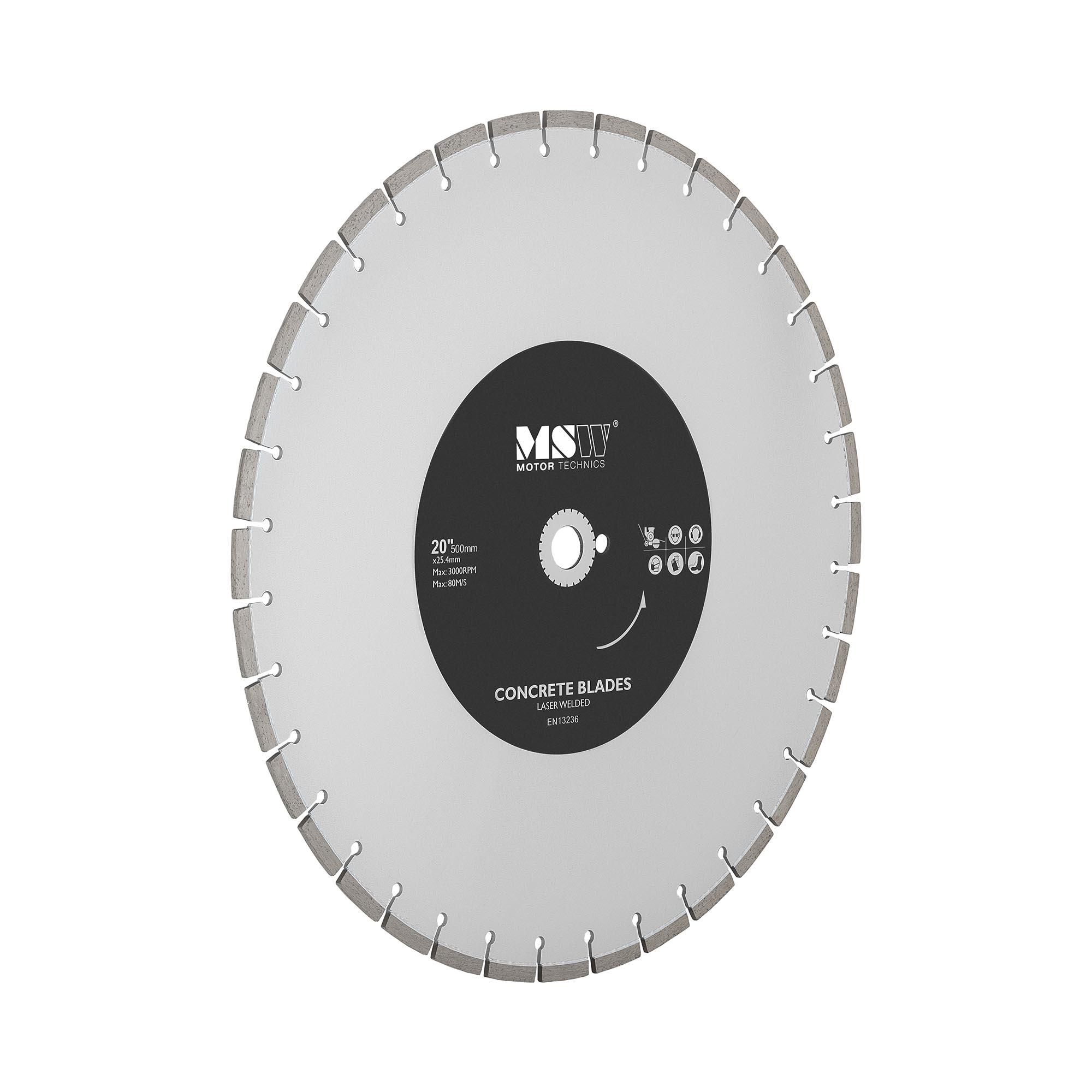 MSW Diamanttrennscheibe - 500 mm MSW-FSCB-500/25