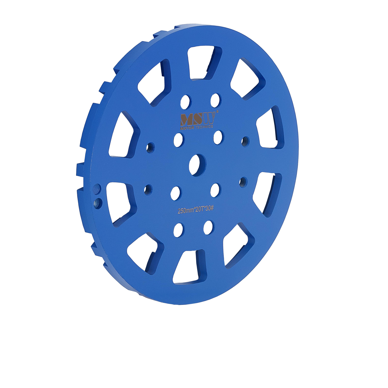 MSW Diamantschleifscheibe - Durchmesser: 250 mm - für Beton - Körnung 30 - 20 Schleifsegmente MSW-FGGD-2