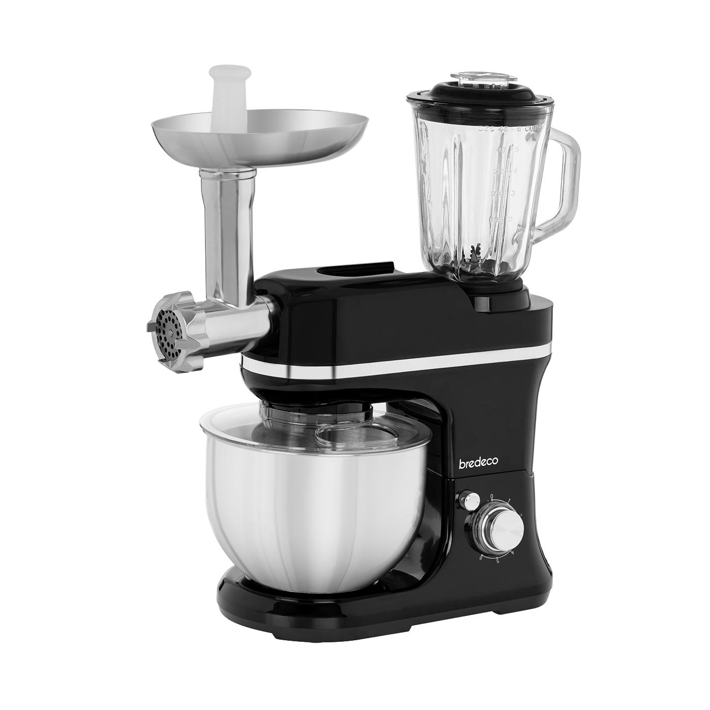 bredeco Küchenmaschine - inkl. Mixer & Fleischwolf - 1.200 W BCPM-1200-EXP