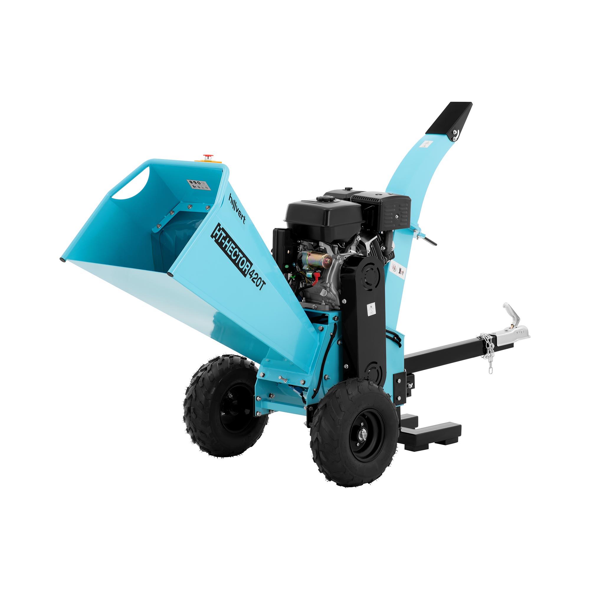 hillvert Benzin Häcksler - 15 PS - 120 mm HT-HECTOR 420T
