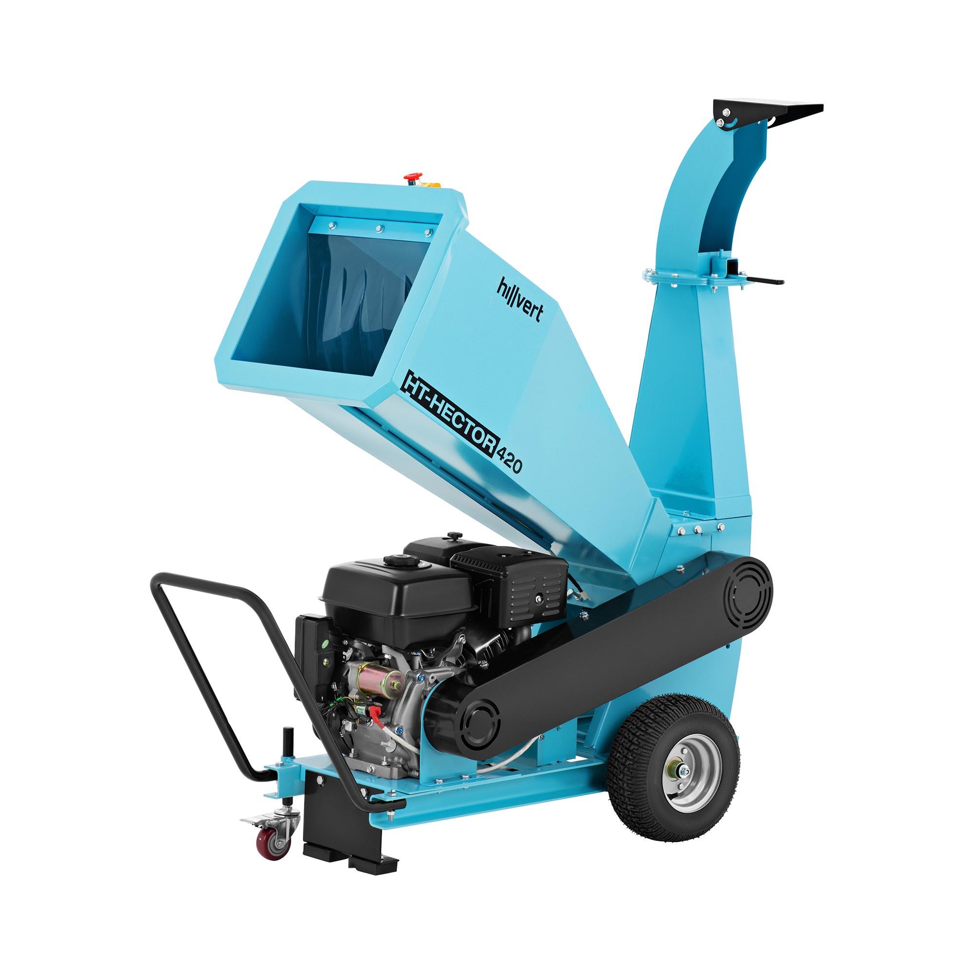 hillvert Benzin Häcksler - 15 PS - 100 mm HT-HECTOR 420