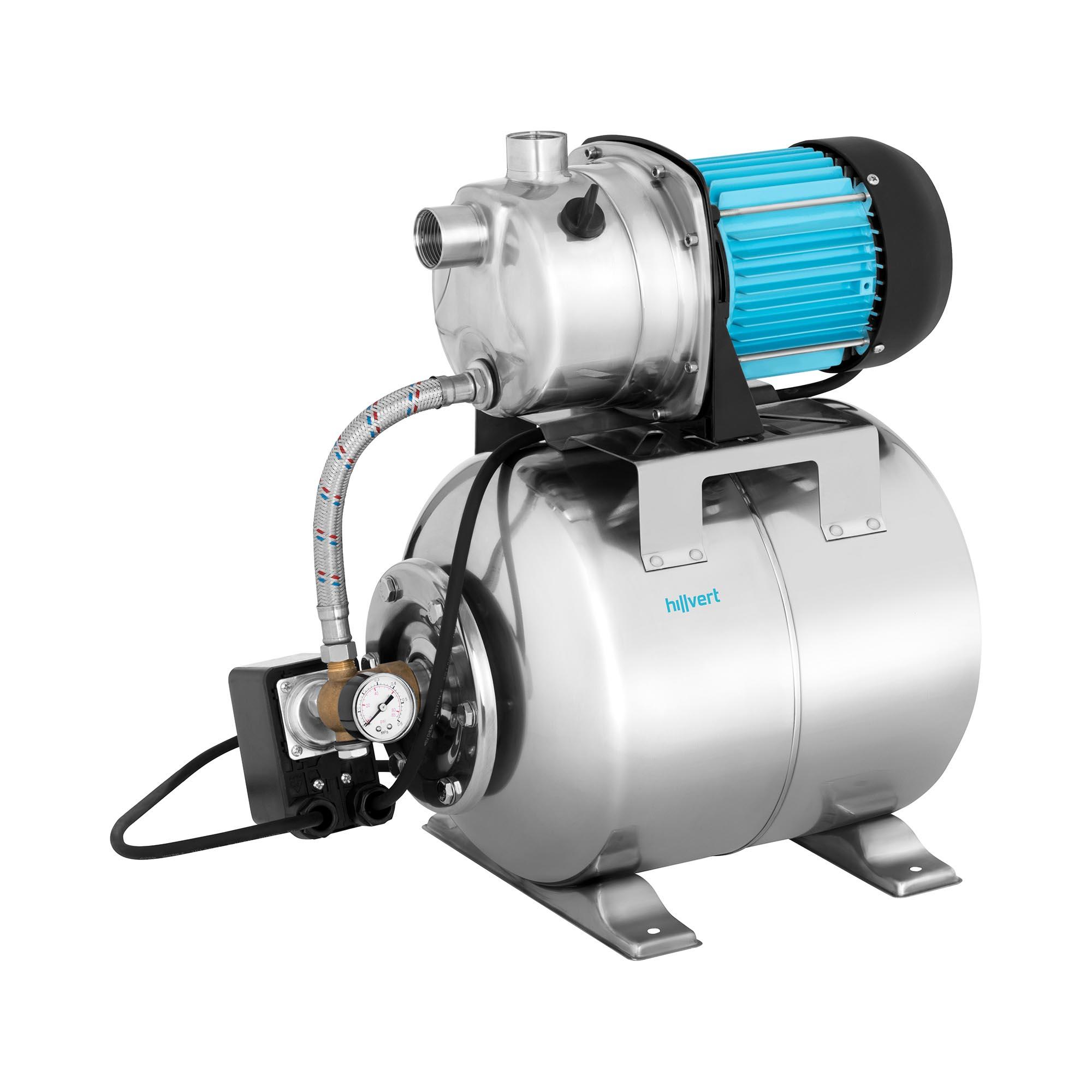 hillvert Hauswasserwerk - 3.500 L/h - 1.200 W - Edelstahl 10090091