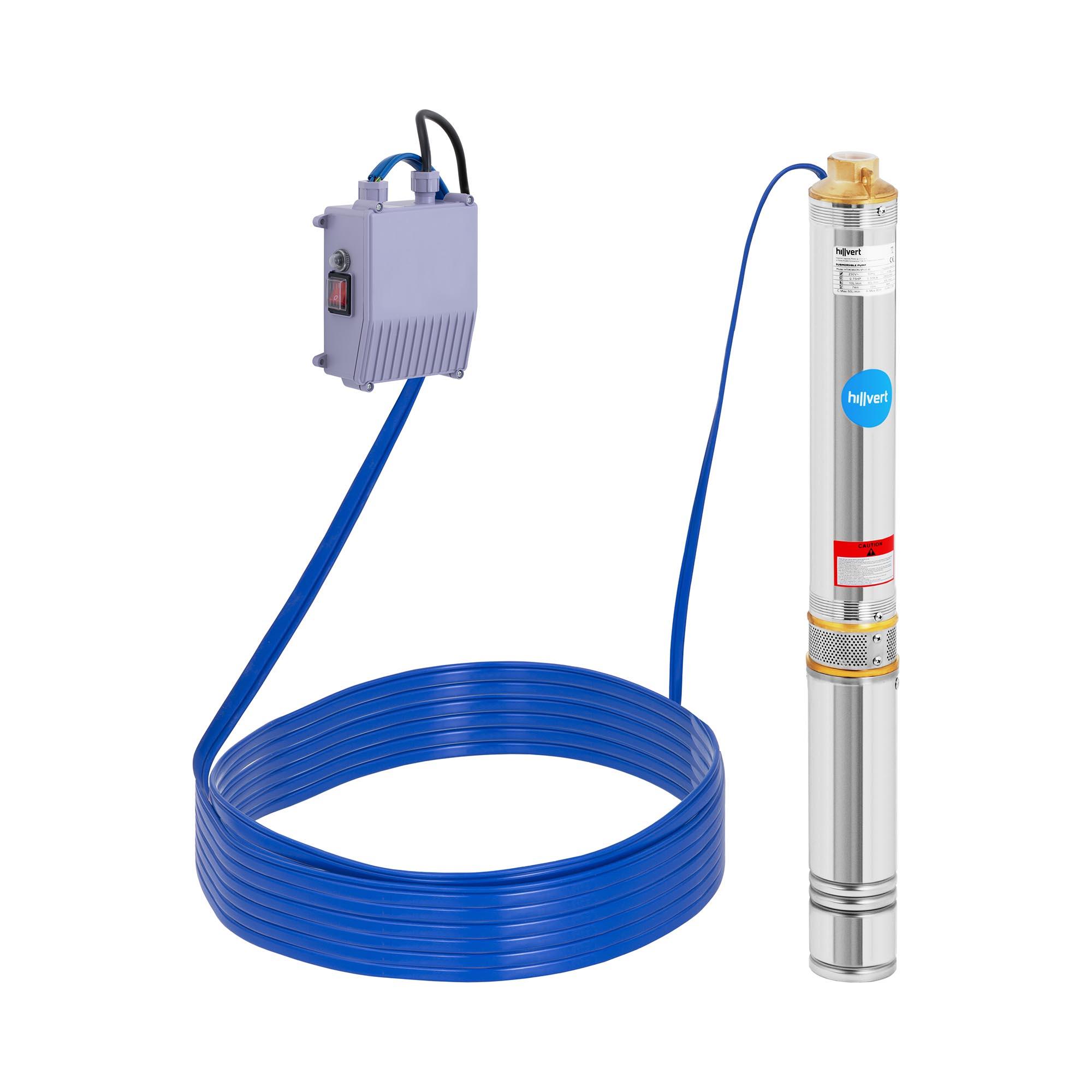 hillvert Brunnenpumpe - 3.000 l/h - 550 W HT-ROBSON-SP550-80