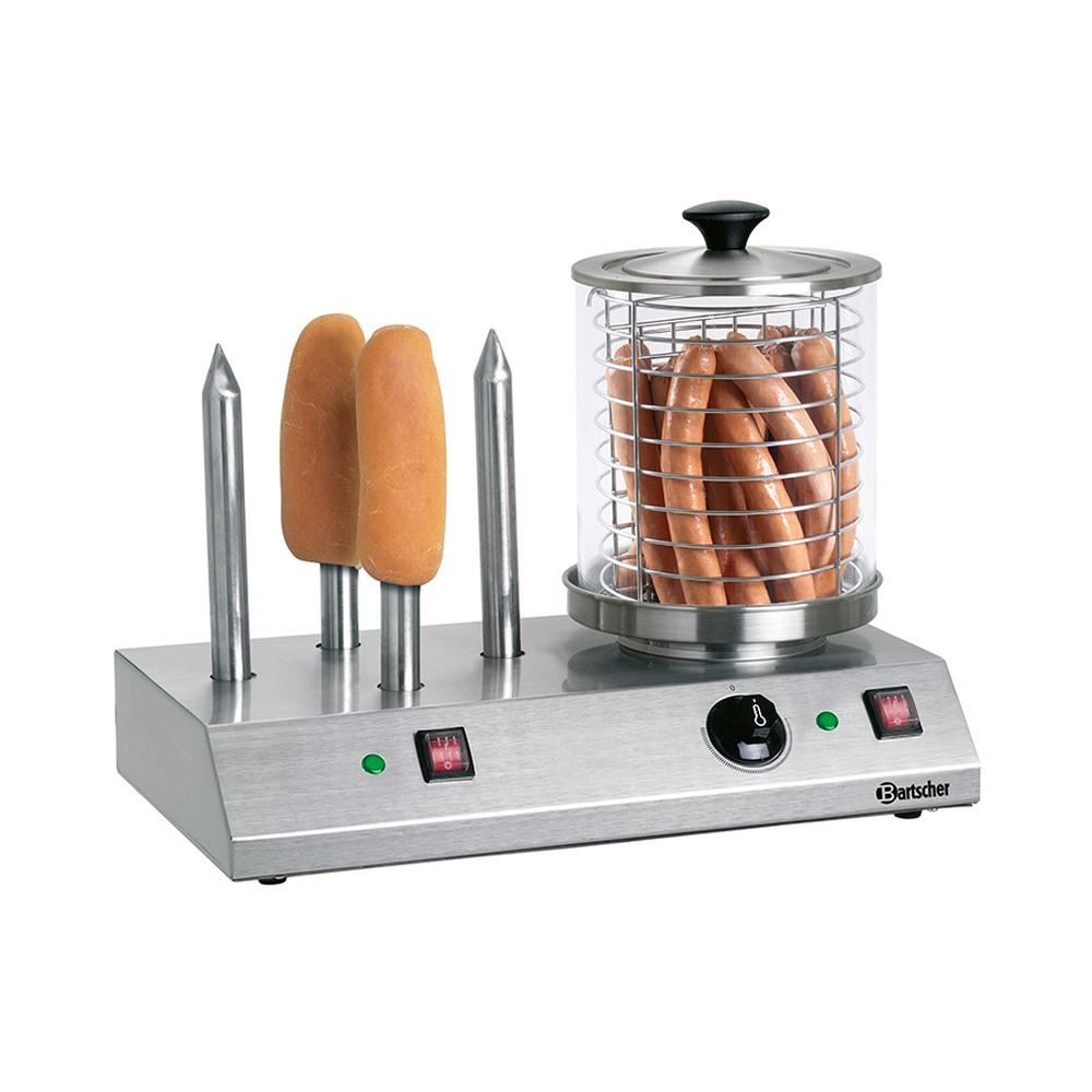 Bartscher Hotdog-/Würstchen Gerät mit 4 Spezial-Toaststangen 10190013