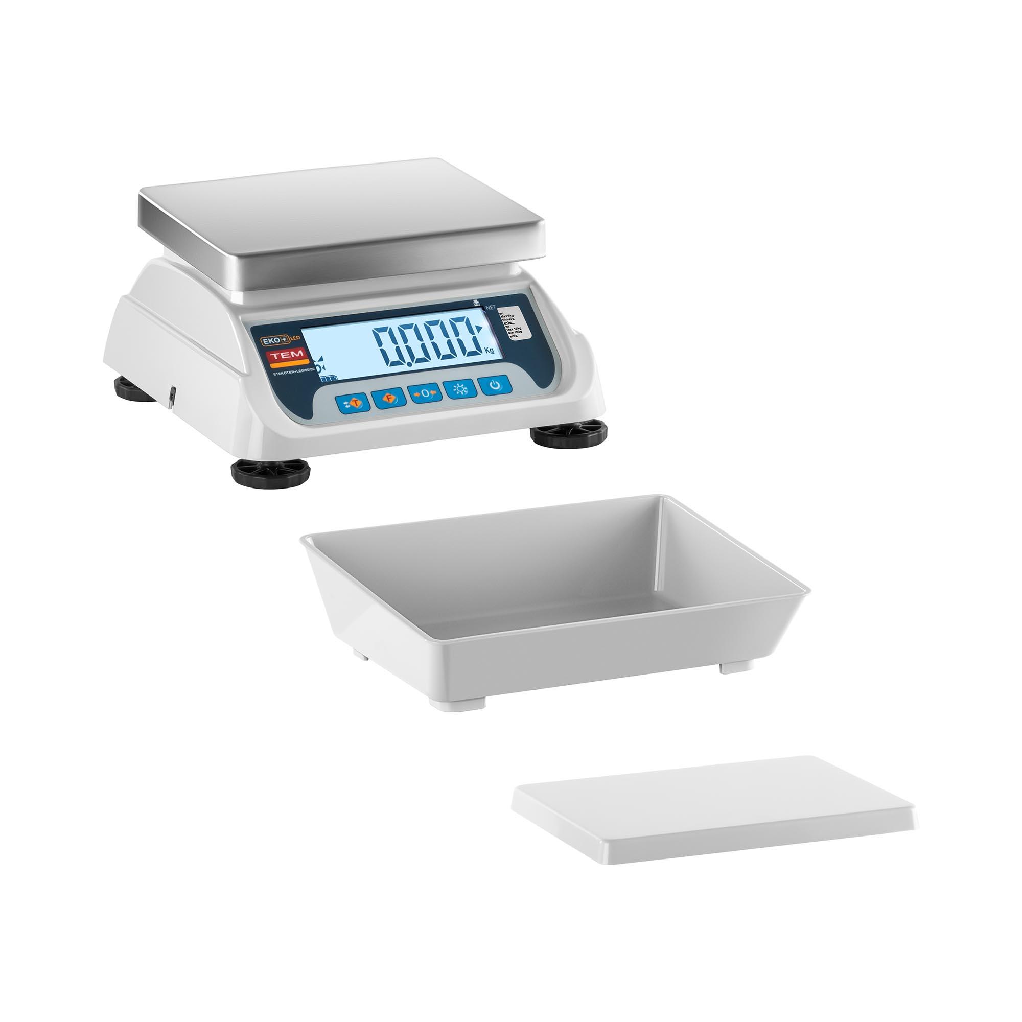 TEM Tischwaage - geeicht - 3 kg / 1 g - LCD TEKO+LCD03T-P1-B1