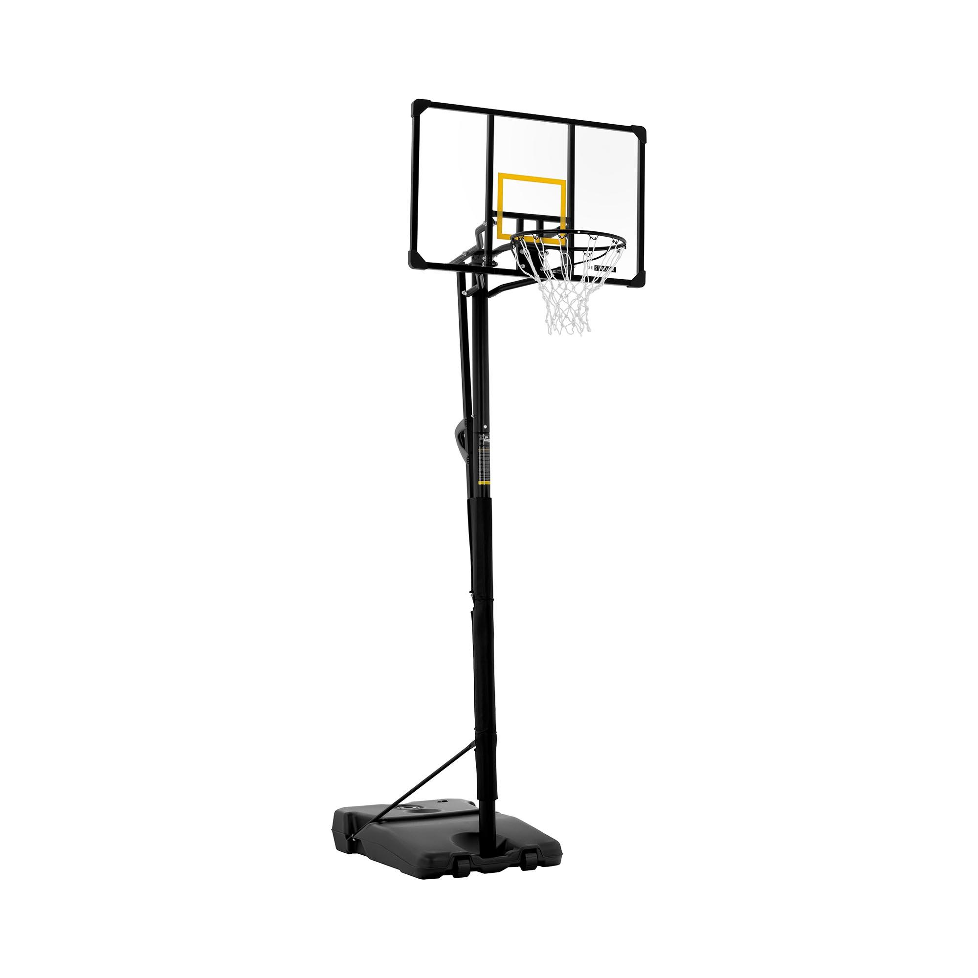 Gymrex Basketballkorb mit Ständer - höhenverstellbar - 230 bis 305 cm GR-BS14