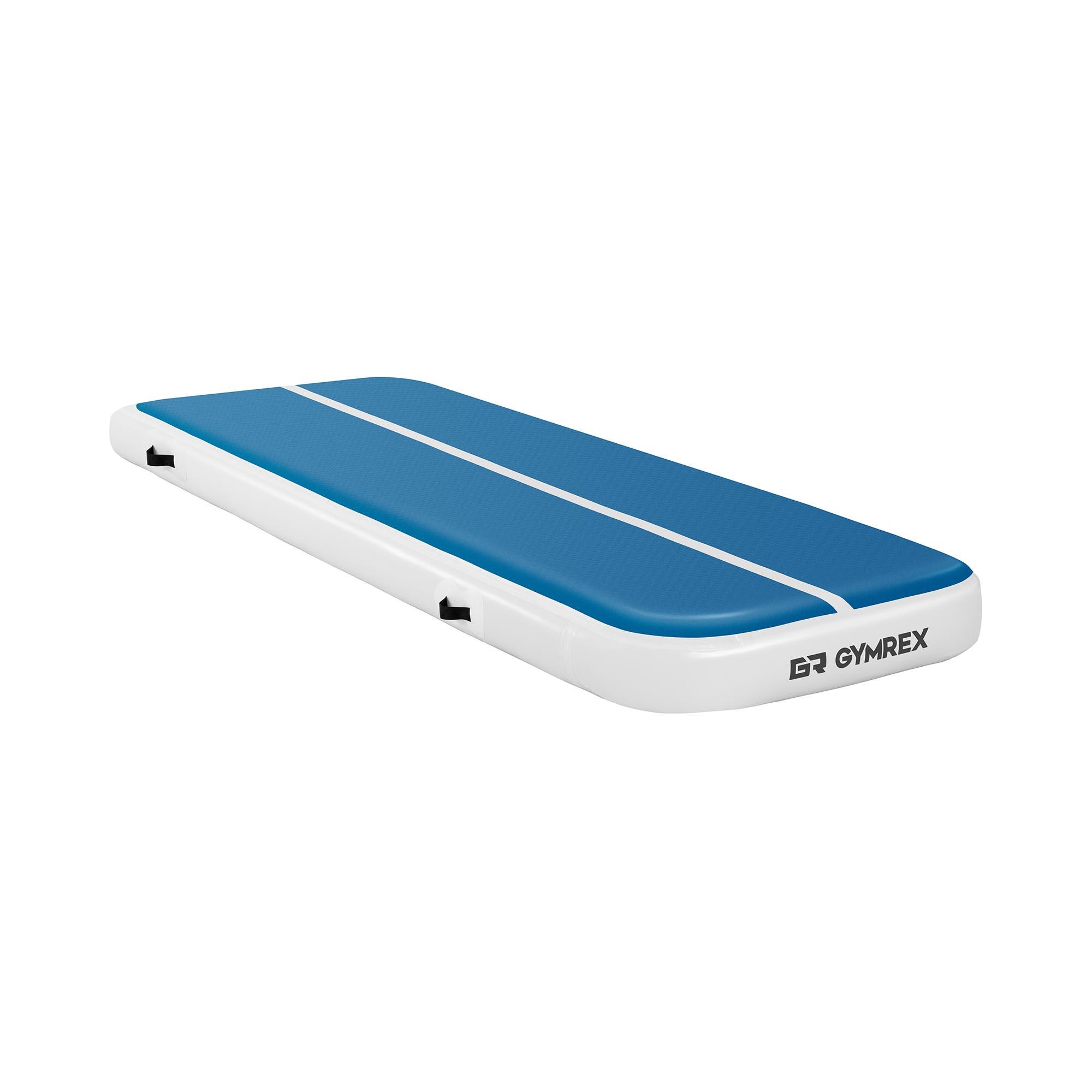Gymrex Aufblasbare Turnmatte - Airtrick - 300 x 100 x 20 cm - 150 kg - blau/weiß GR-ATM4