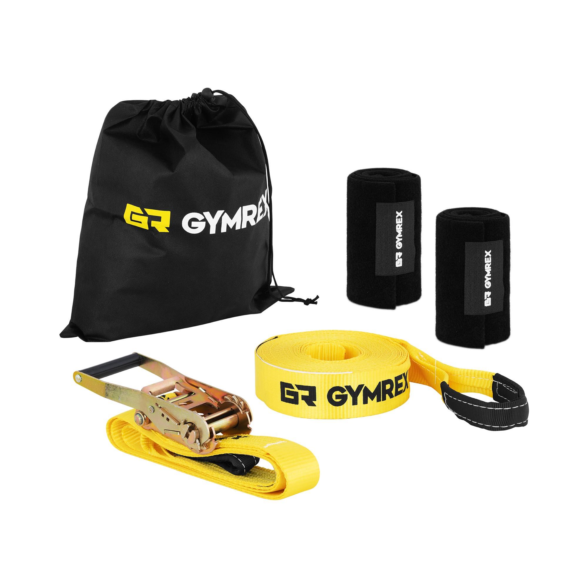 Gymrex Slackline - 13 m - Ratsche - Baumschutz 10230149