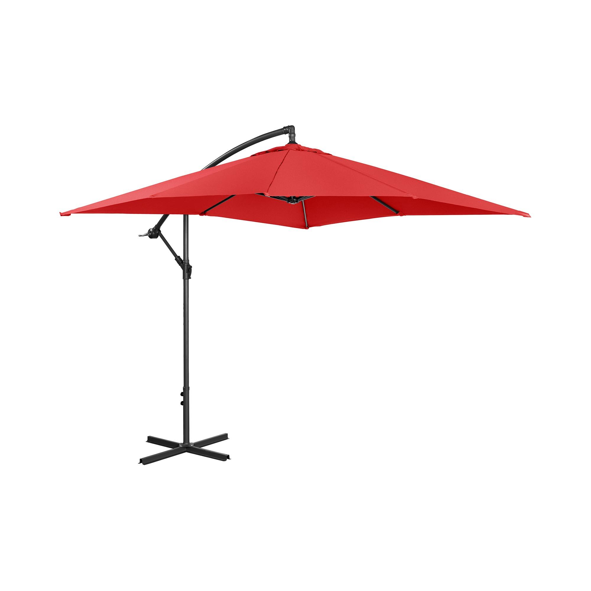 Uniprodo Ampelschirm - rot - rechteckig - 250 x 250 cm - neigbar 10250072