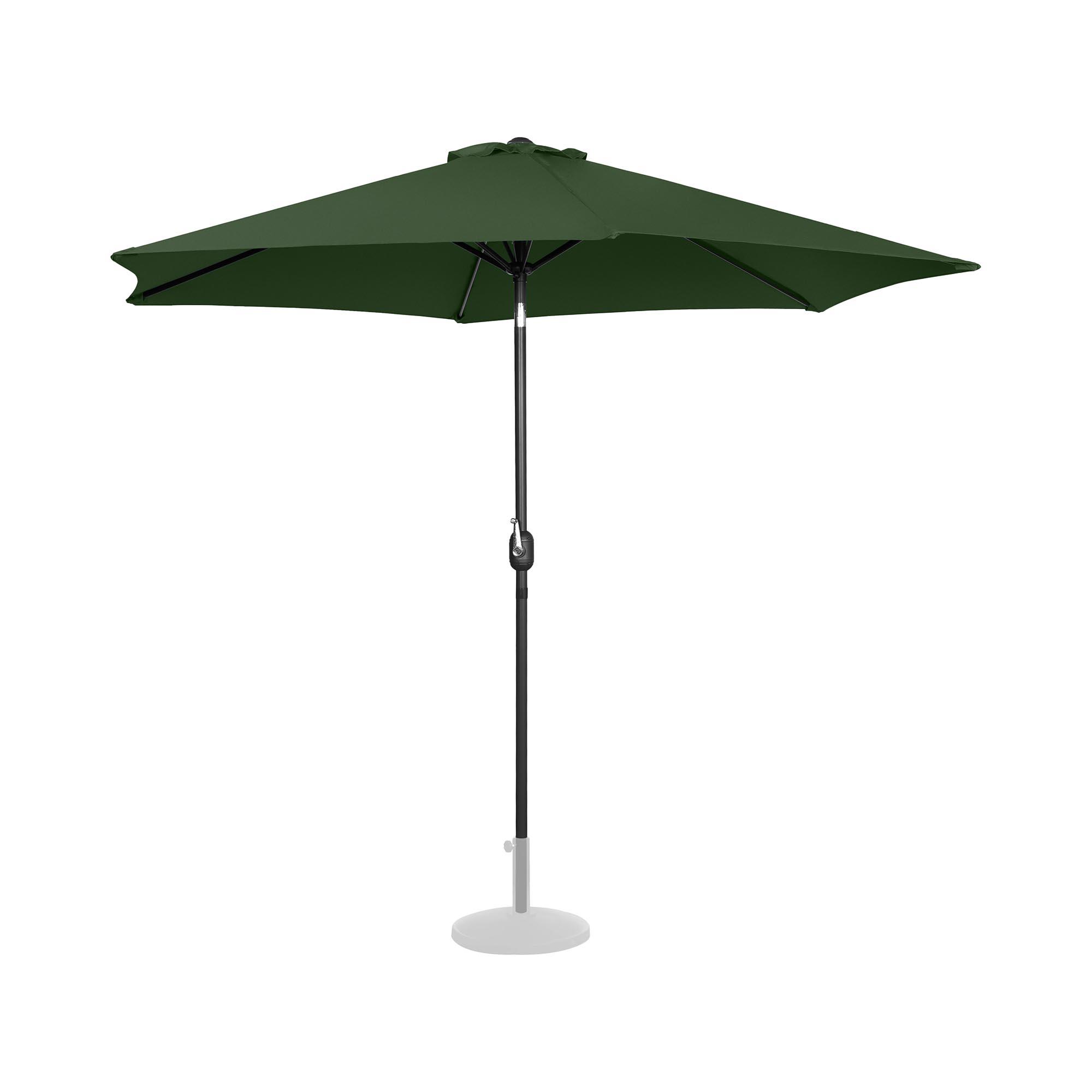 Uniprodo Sonnenschirm groß - grün - sechseckig - Ø 300 cm - neigbar UNI_UMBRELLA_TR300GR