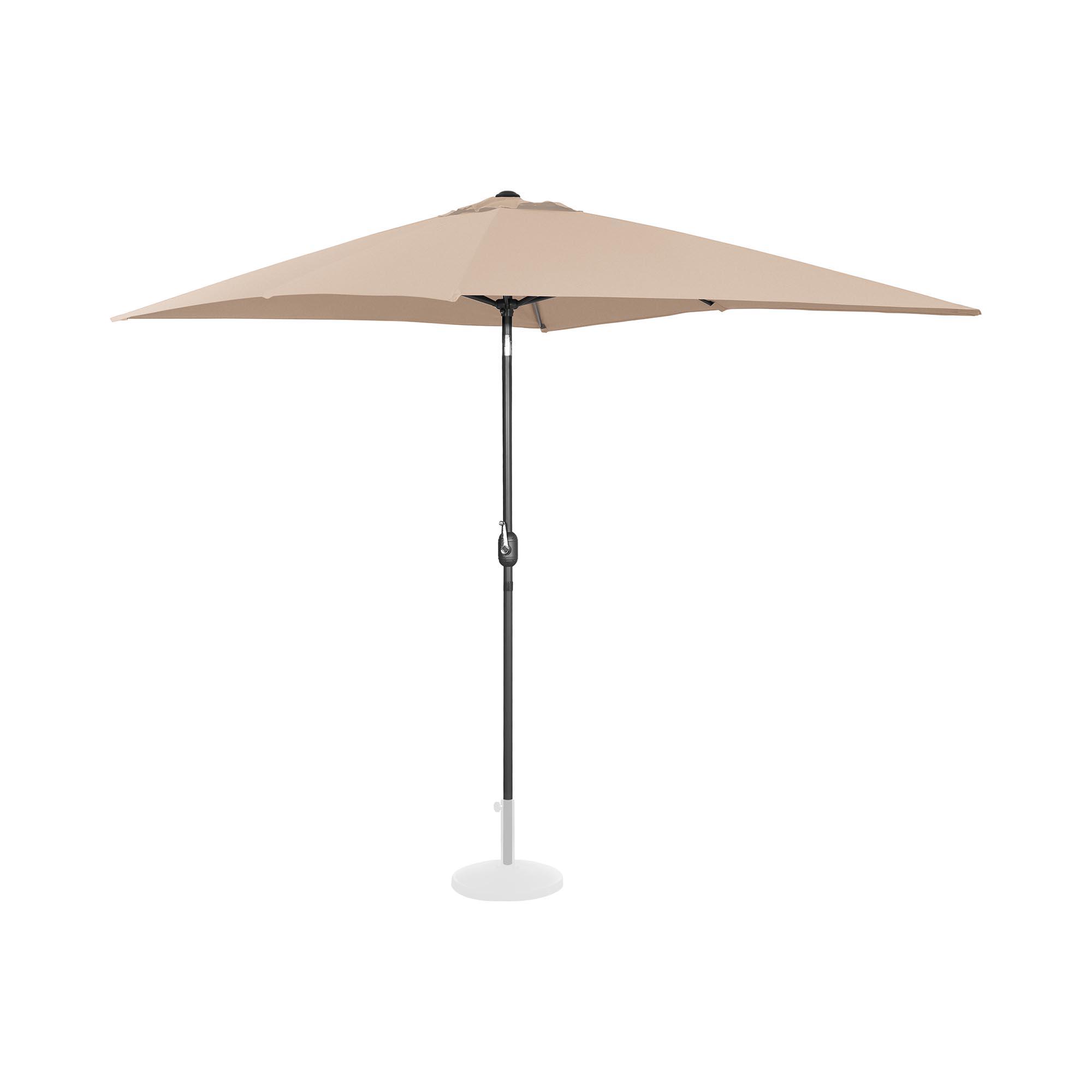Uniprodo Sonnenschirm groß - creme - rechteckig - 200 x 300 cm - neigbar 10250131
