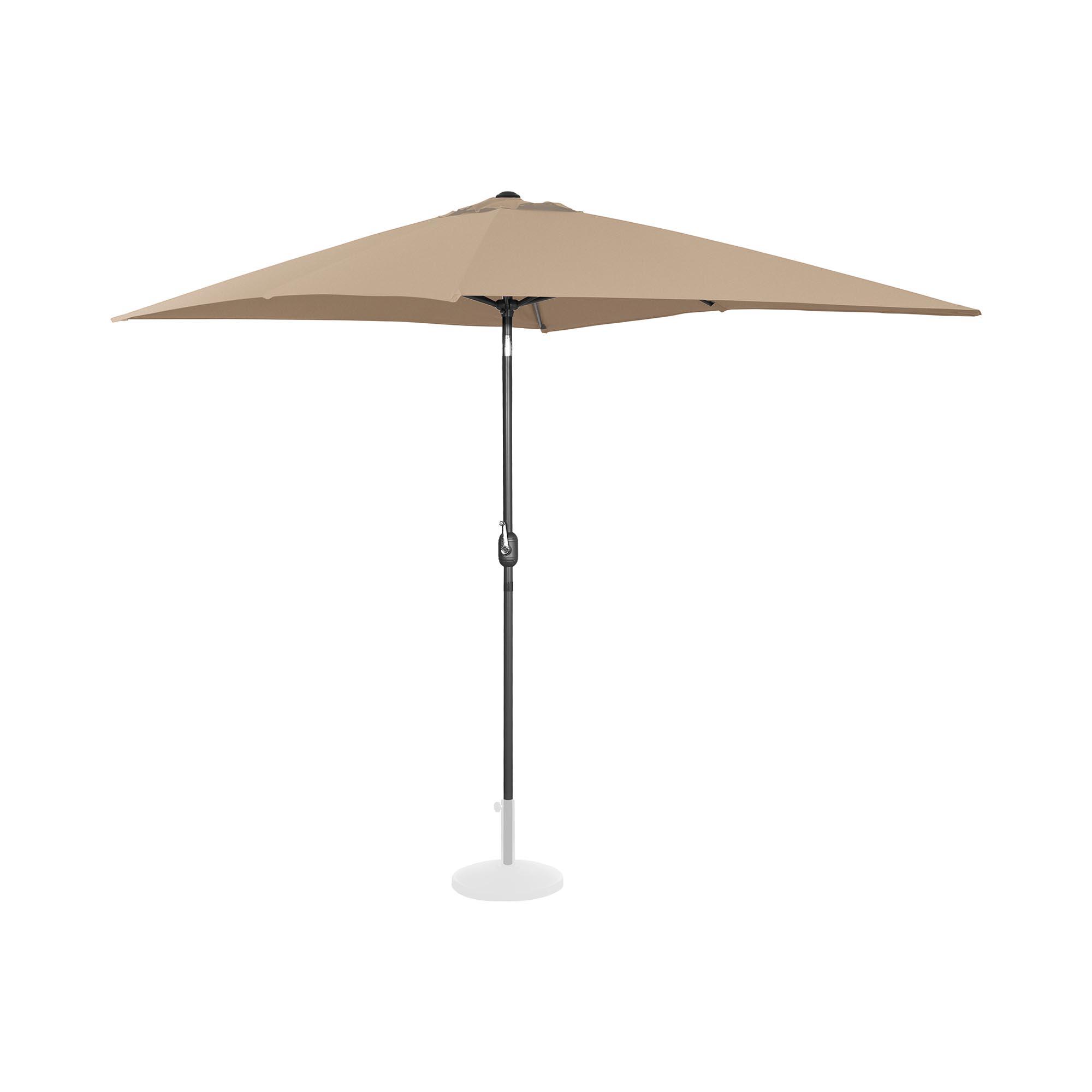 Uniprodo Sonnenschirm groß - taupe - rechteckig - 200 x 300 cm - neigbar 10250132