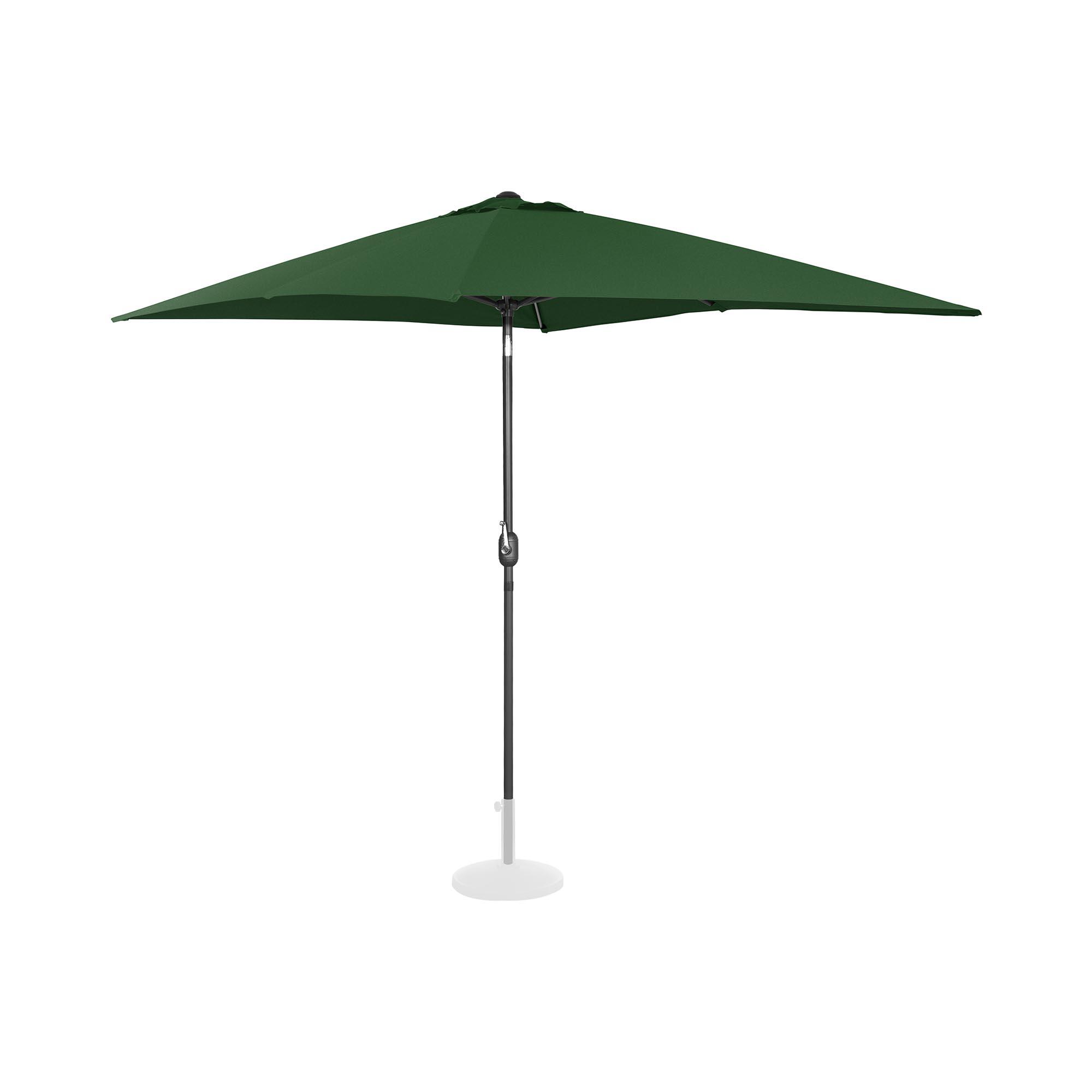Uniprodo Sonnenschirm groß - grün - rechteckig - 200 x 300 cm - neigbar UNI_UMBRELLA_TSQ2030GR