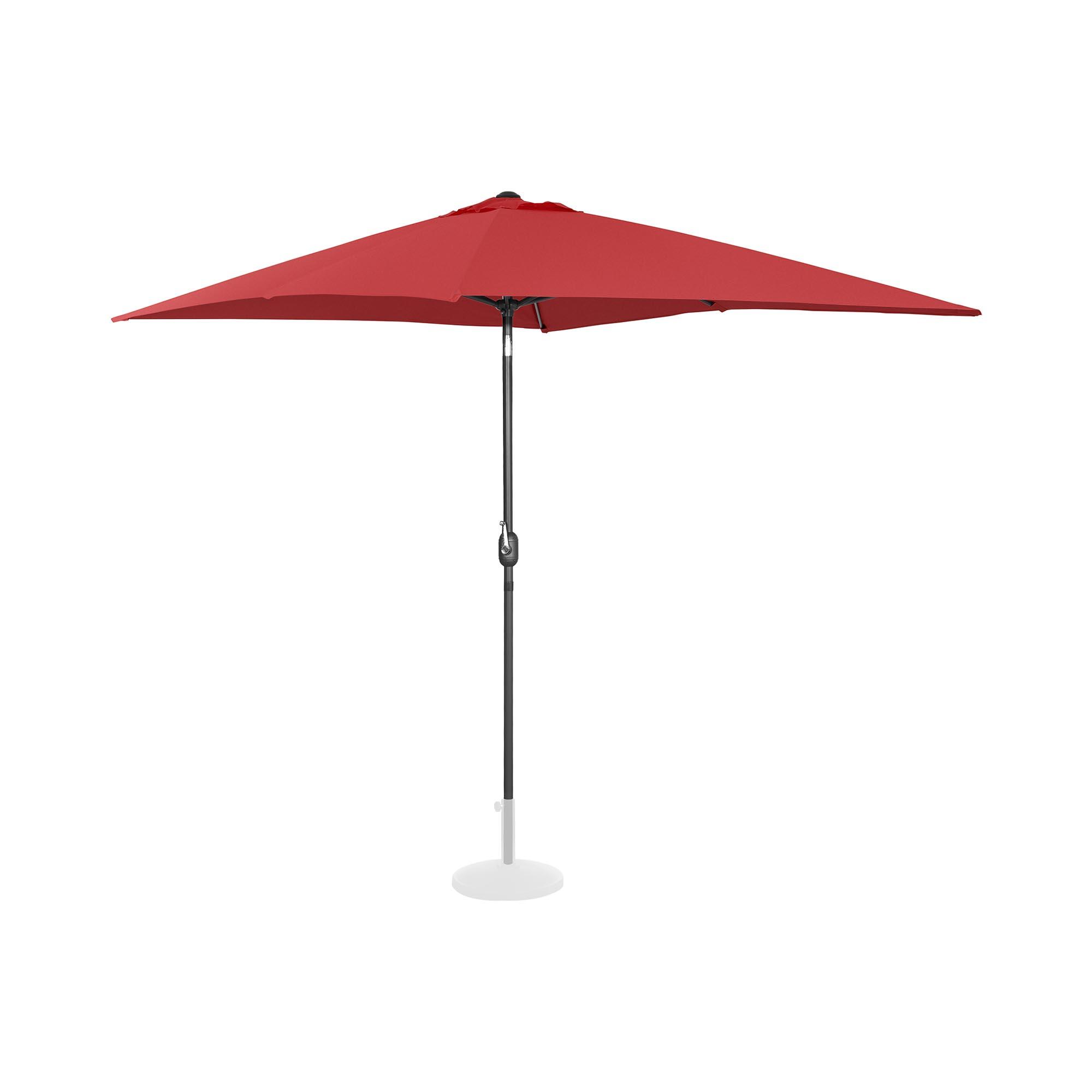 Uniprodo Sonnenschirm groß - bordeaux - rechteckig - 200 x 300 cm - neigbar 10250135
