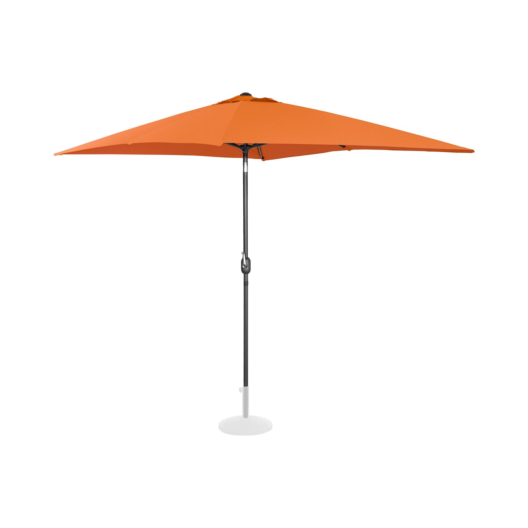 Uniprodo Sonnenschirm groß - orange - rechteckig - 200 x 300 cm - neigbar 10250136