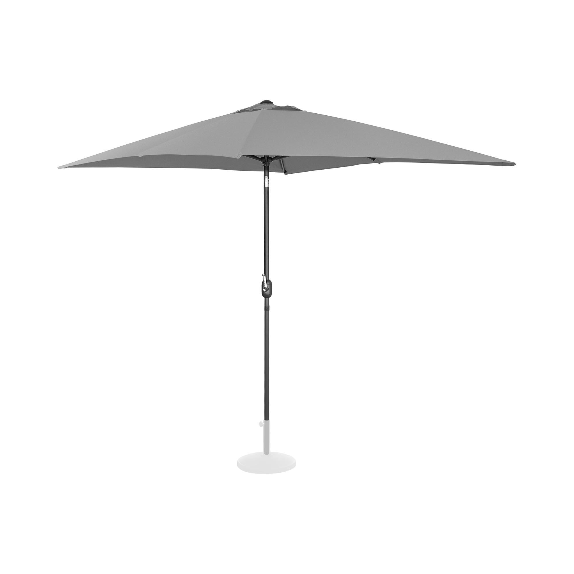 Uniprodo Sonnenschirm groß - dunkelgrau - rechteckig - 200 x 300 cm - neigbar 10250137