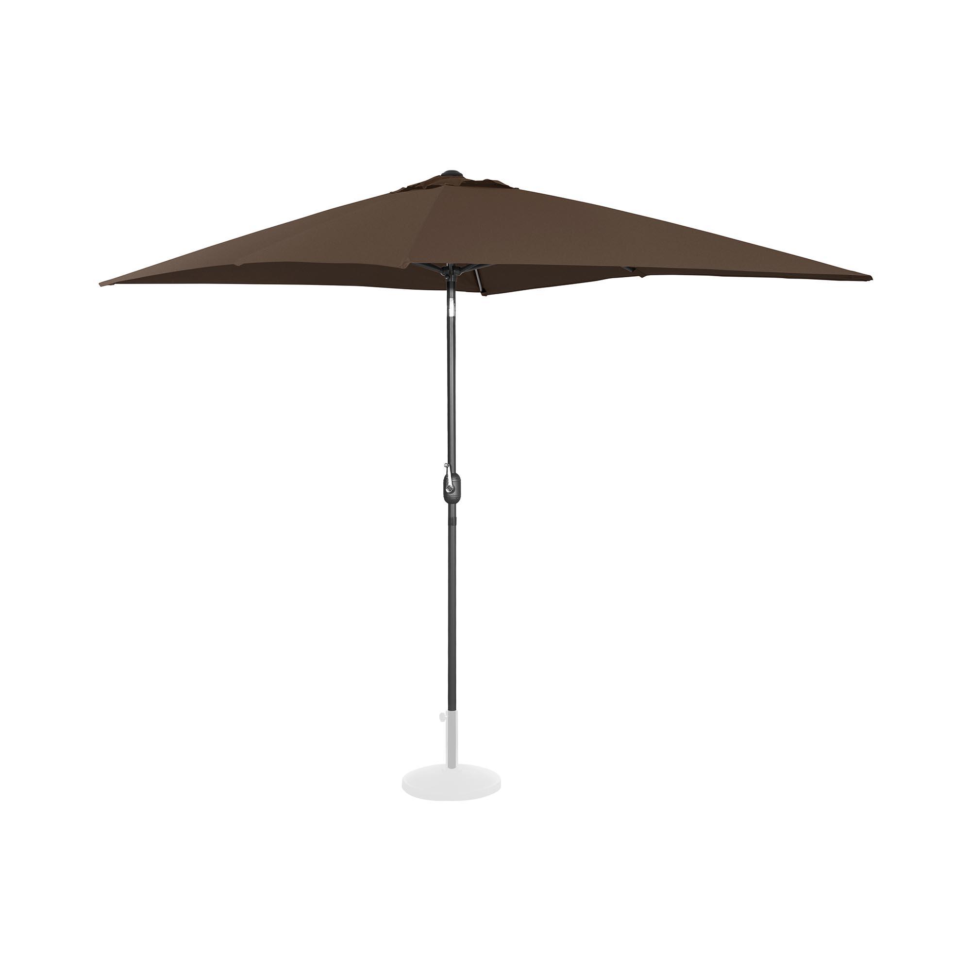 Uniprodo Sonnenschirm groß - braun - rechteckig - 200 x 300 cm - neigbar 10250138