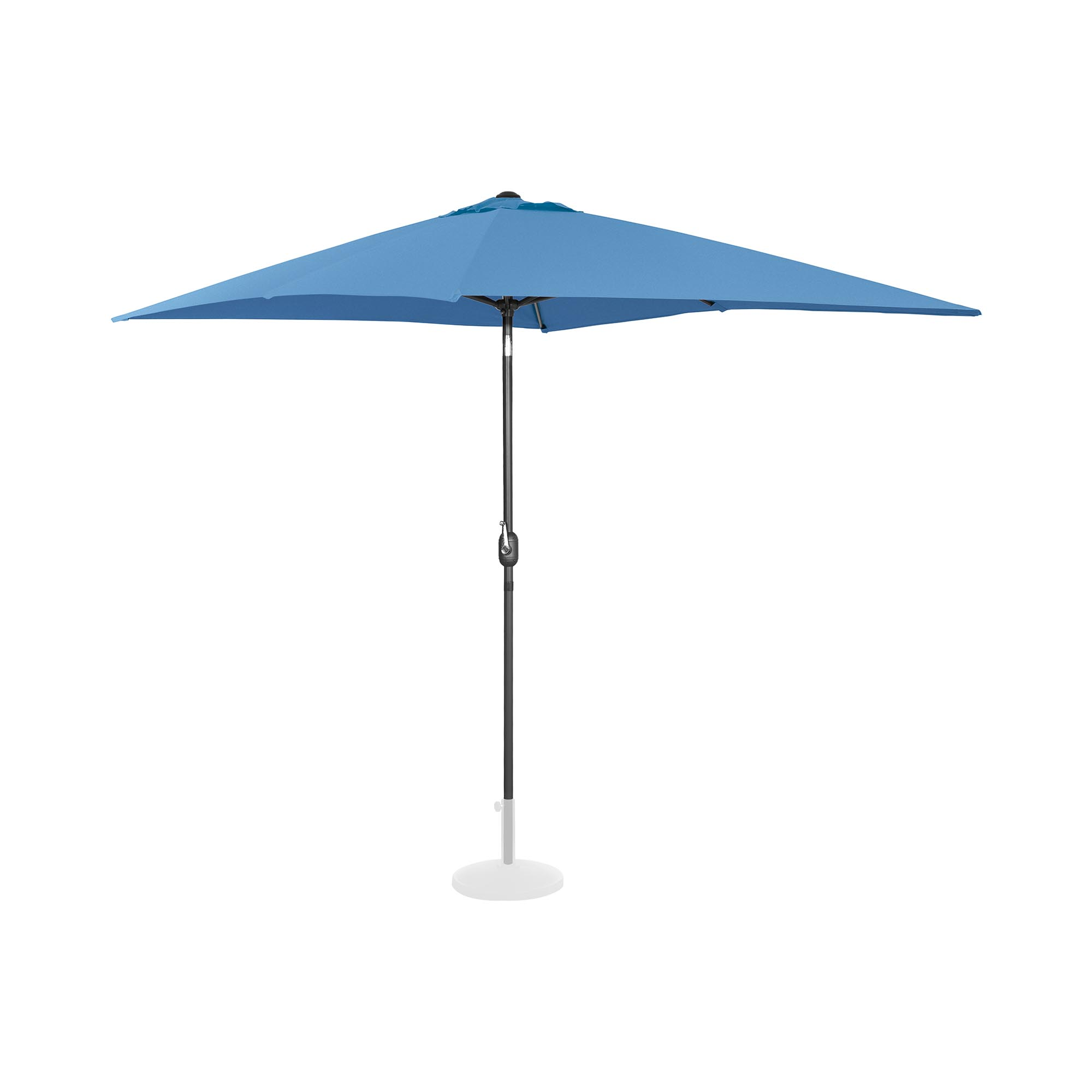 Uniprodo Sonnenschirm groß - blau - rechteckig - 200 x 300 cm - neigbar UNI_UMBRELLA_TSQ2030BL